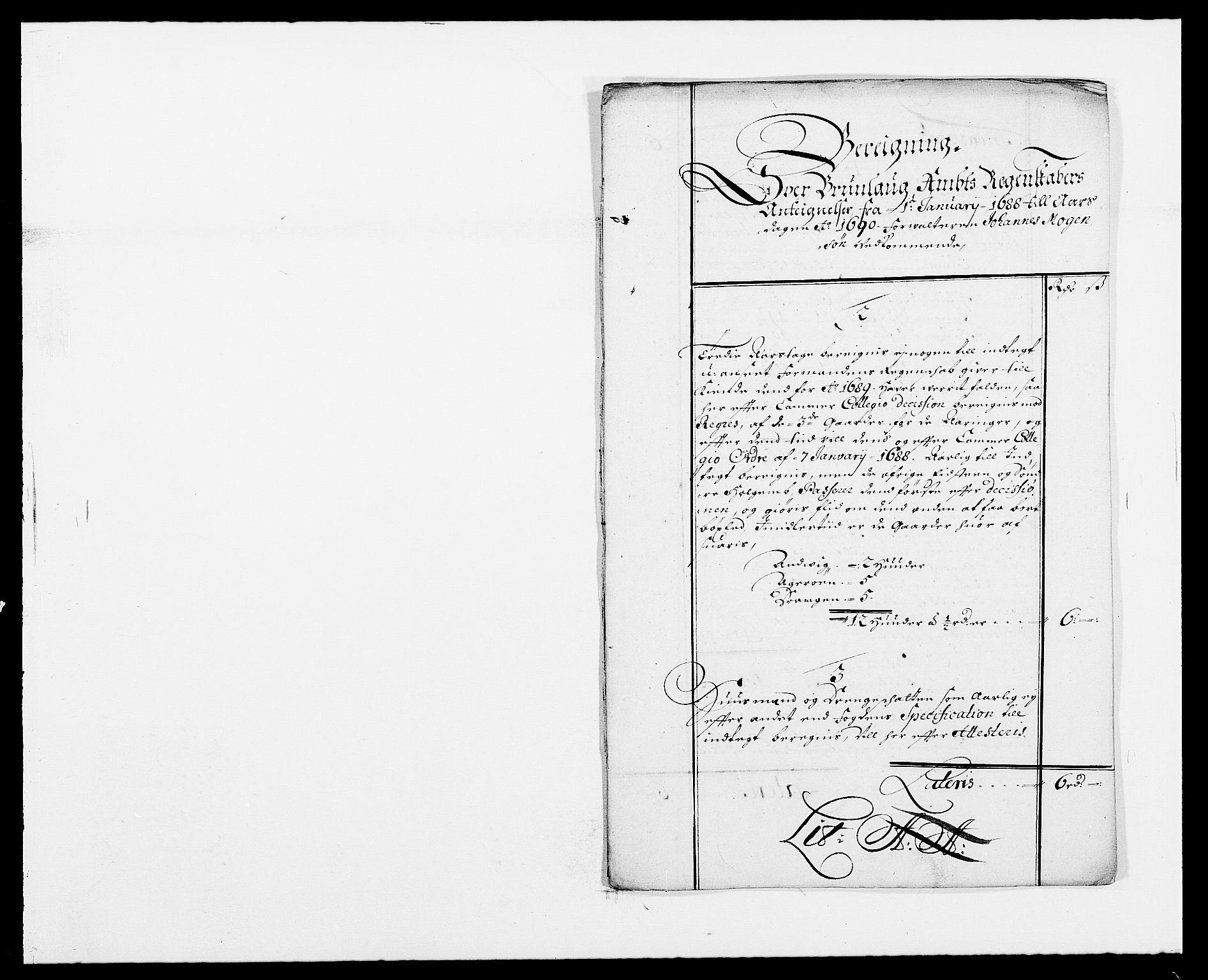 RA, Rentekammeret inntil 1814, Reviderte regnskaper, Fogderegnskap, R33/L1972: Fogderegnskap Larvik grevskap, 1690-1691, s. 400