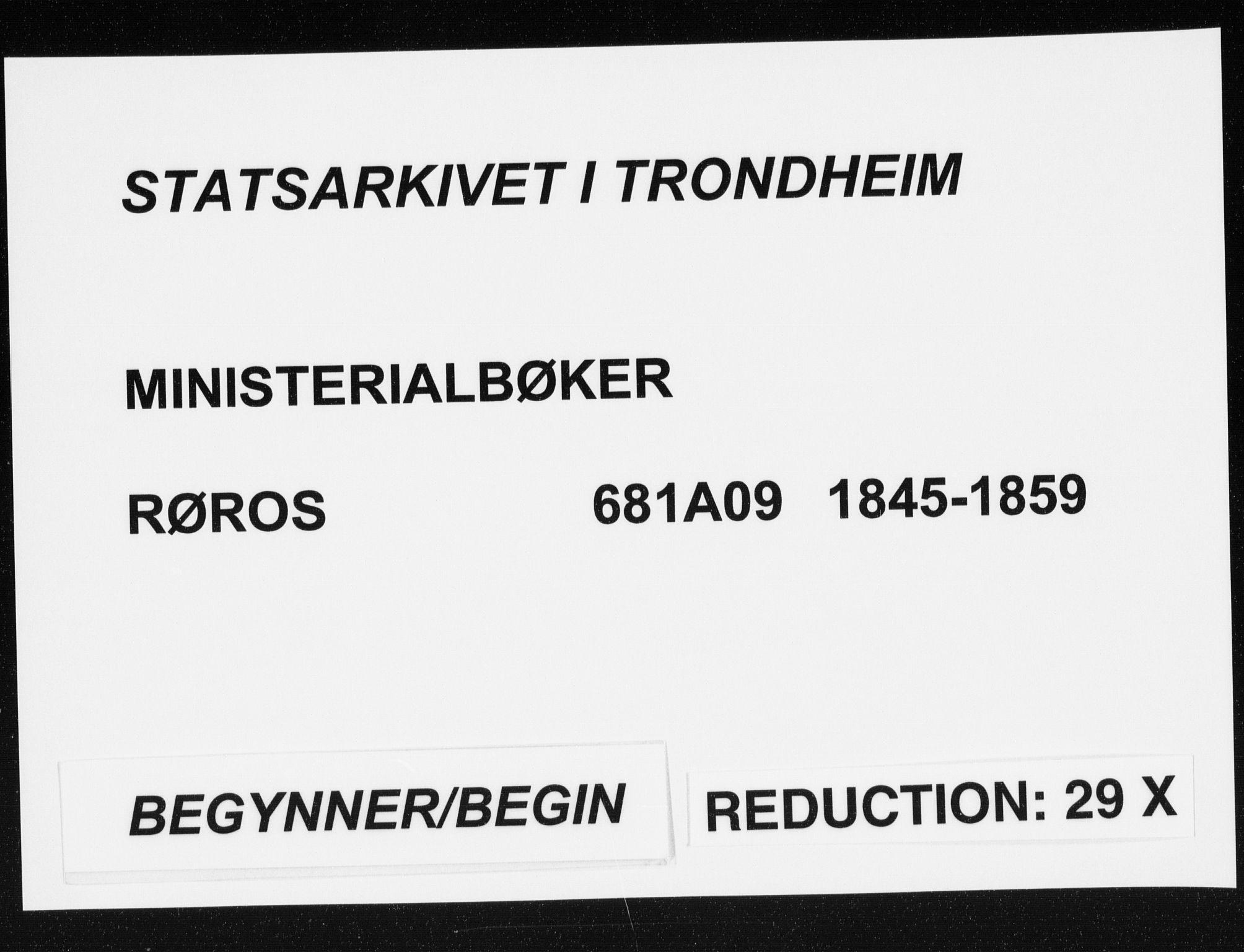 SAT, Ministerialprotokoller, klokkerbøker og fødselsregistre - Sør-Trøndelag, 681/L0931: Ministerialbok nr. 681A09, 1845-1859