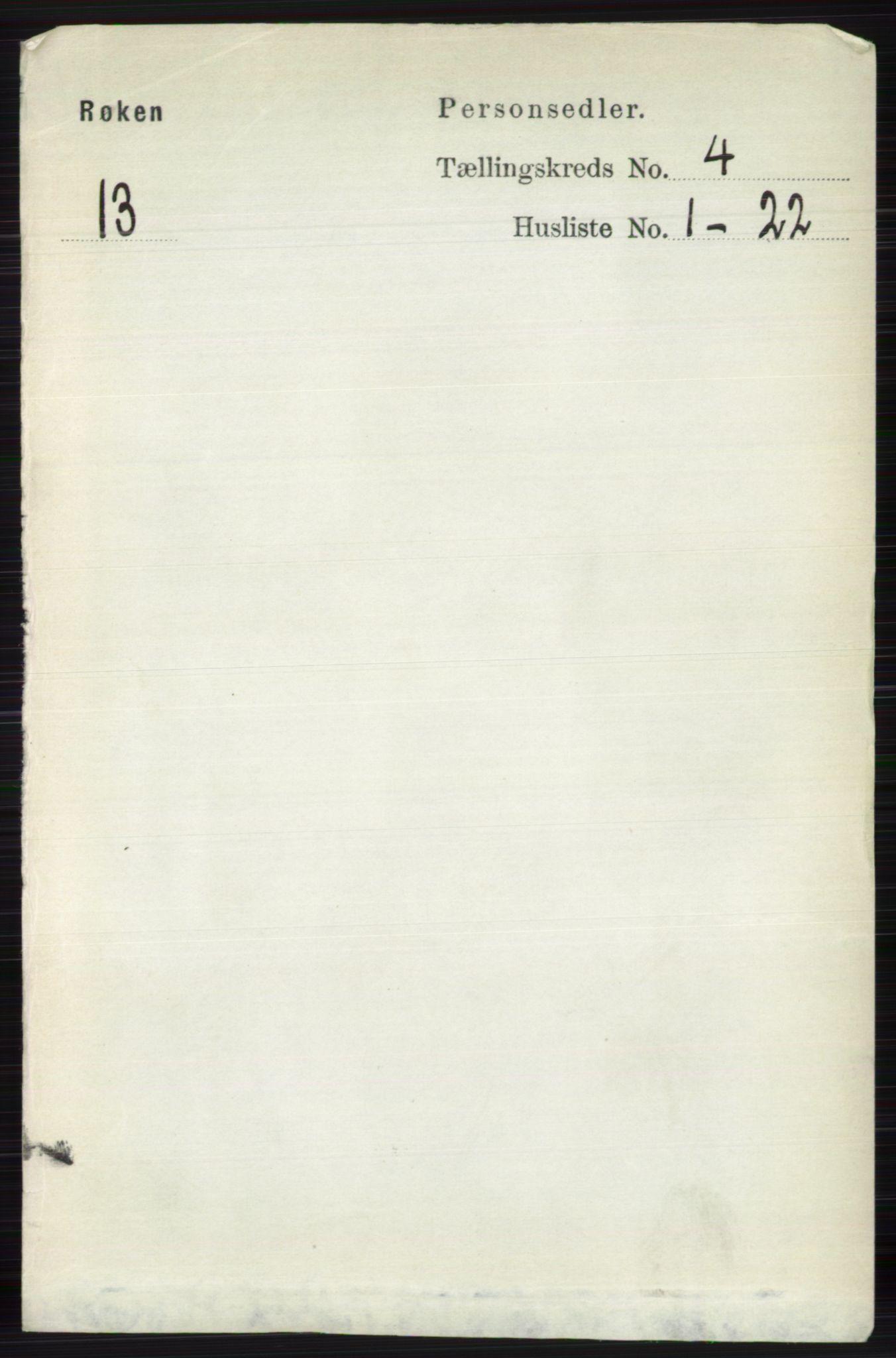 RA, Folketelling 1891 for 0627 Røyken herred, 1891, s. 1856