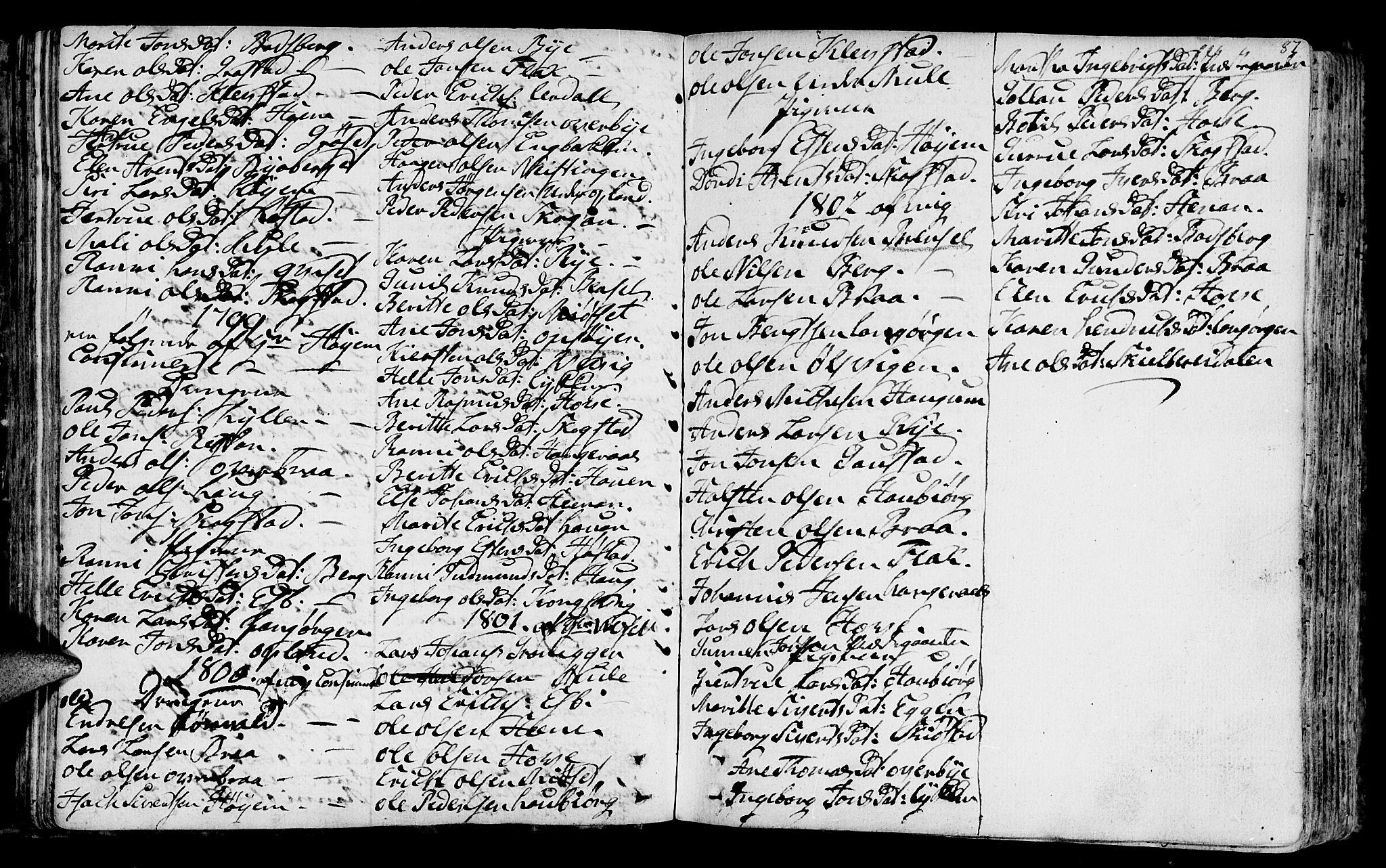 SAT, Ministerialprotokoller, klokkerbøker og fødselsregistre - Sør-Trøndelag, 612/L0370: Ministerialbok nr. 612A04, 1754-1802, s. 87