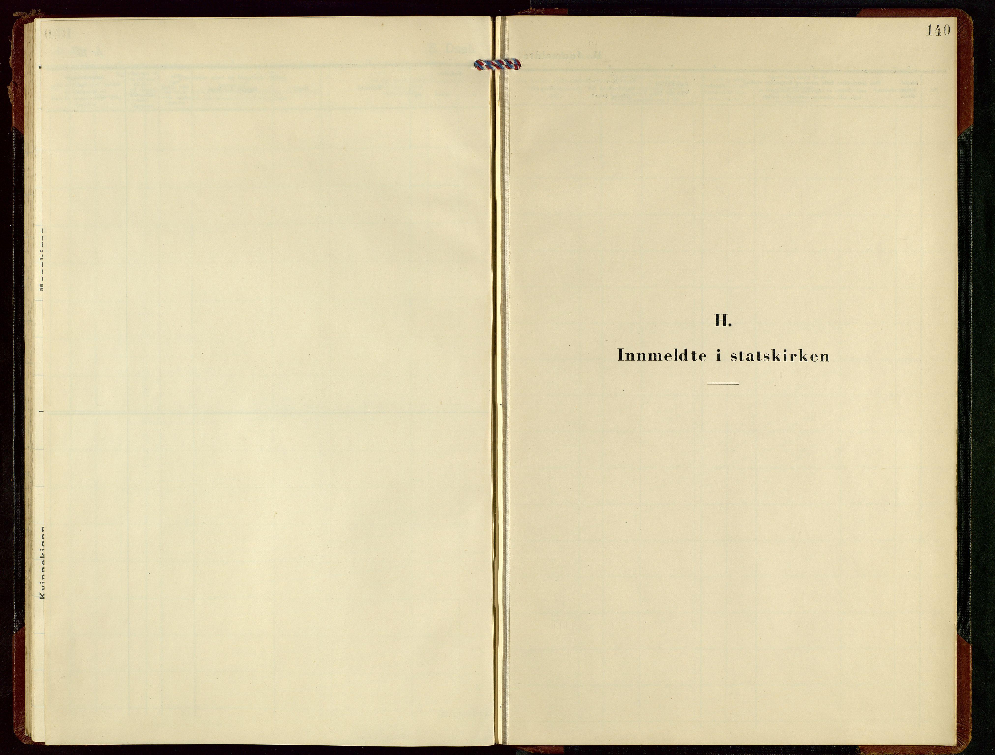 SAST, Rennesøy sokneprestkontor, H/Ha/Hab/L0019: Klokkerbok nr. B 18, 1950-1972, s. 140