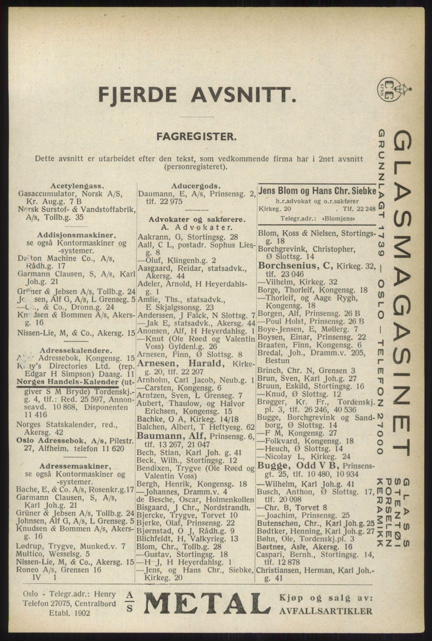 PUBL, Kristiania/Oslo adressebok, 1937, s. 2453