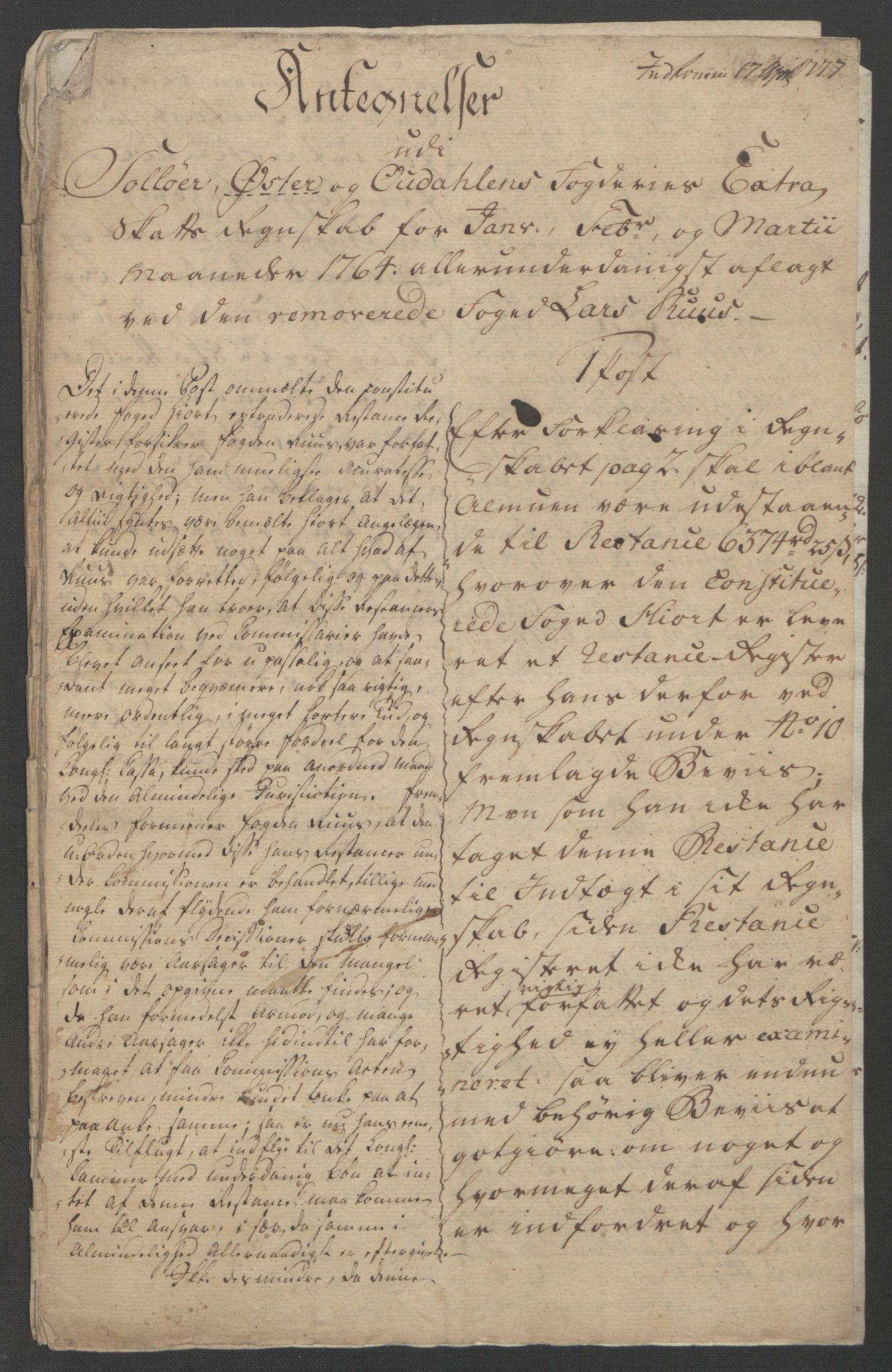 RA, Rentekammeret inntil 1814, Reviderte regnskaper, Fogderegnskap, R14/L0959: Ekstraskatten Solør og Odal, 1763-1770, s. 405