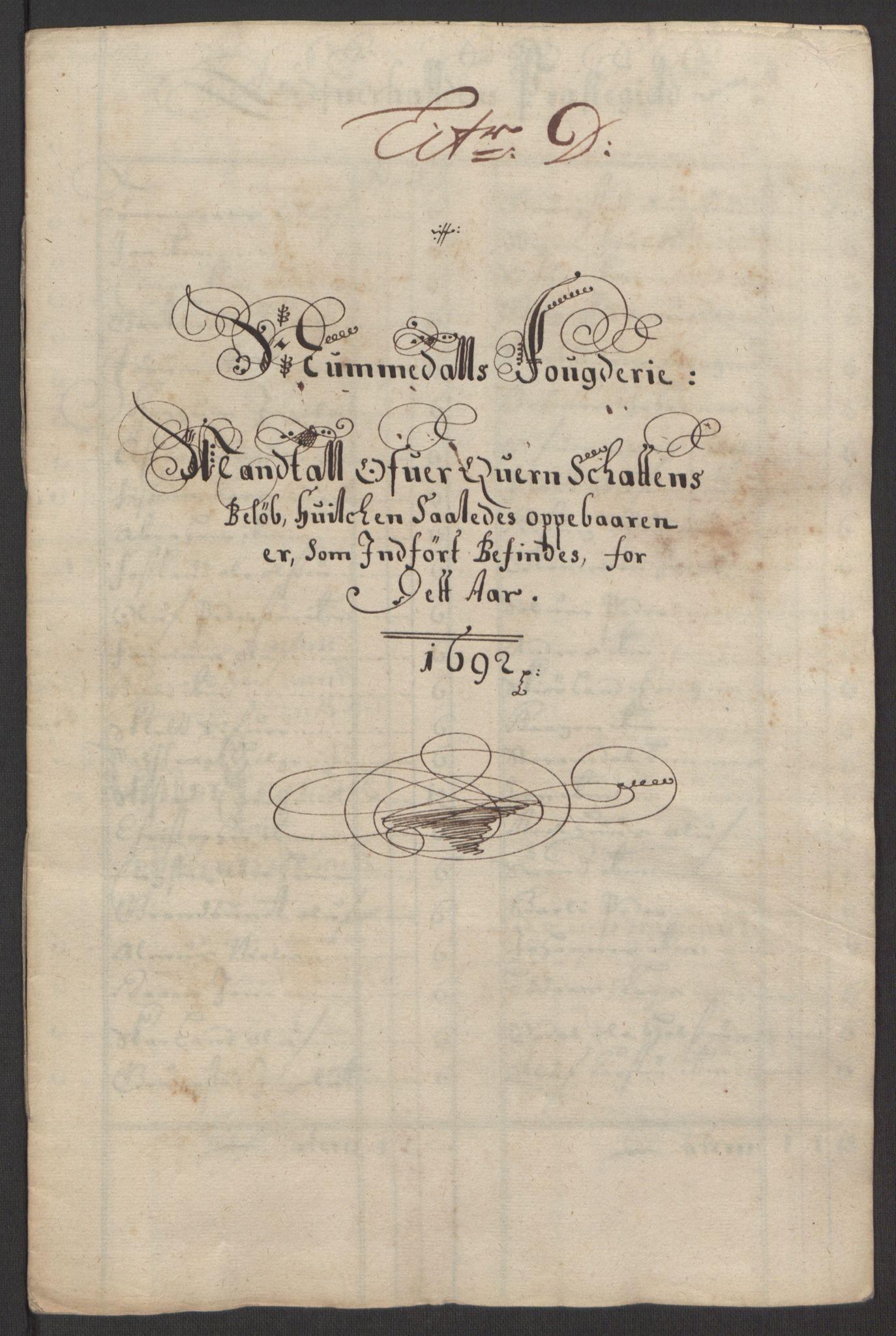 RA, Rentekammeret inntil 1814, Reviderte regnskaper, Fogderegnskap, R64/L4424: Fogderegnskap Namdal, 1692-1695, s. 20