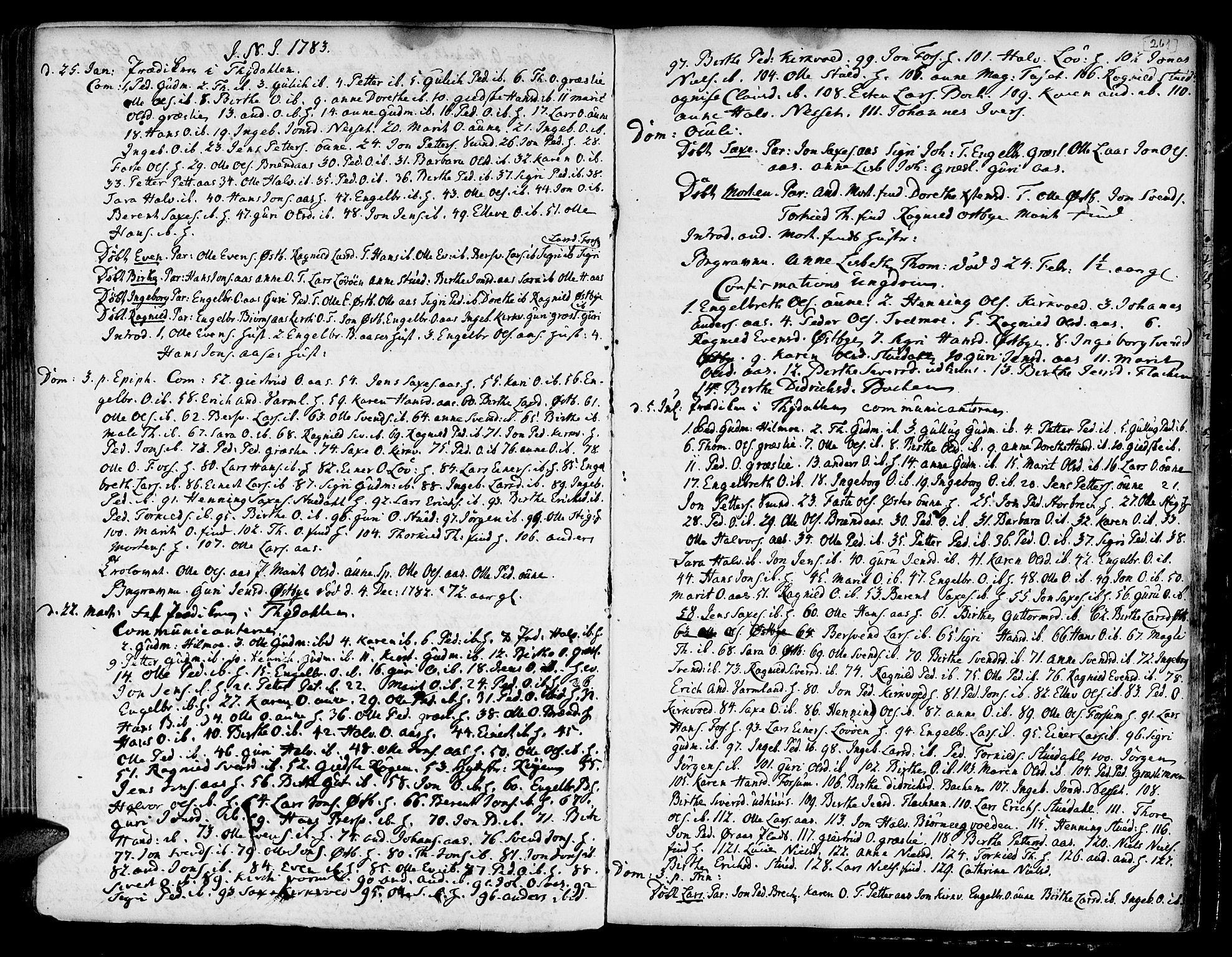 SAT, Ministerialprotokoller, klokkerbøker og fødselsregistre - Sør-Trøndelag, 695/L1139: Ministerialbok nr. 695A02 /2, 1776-1790, s. 261
