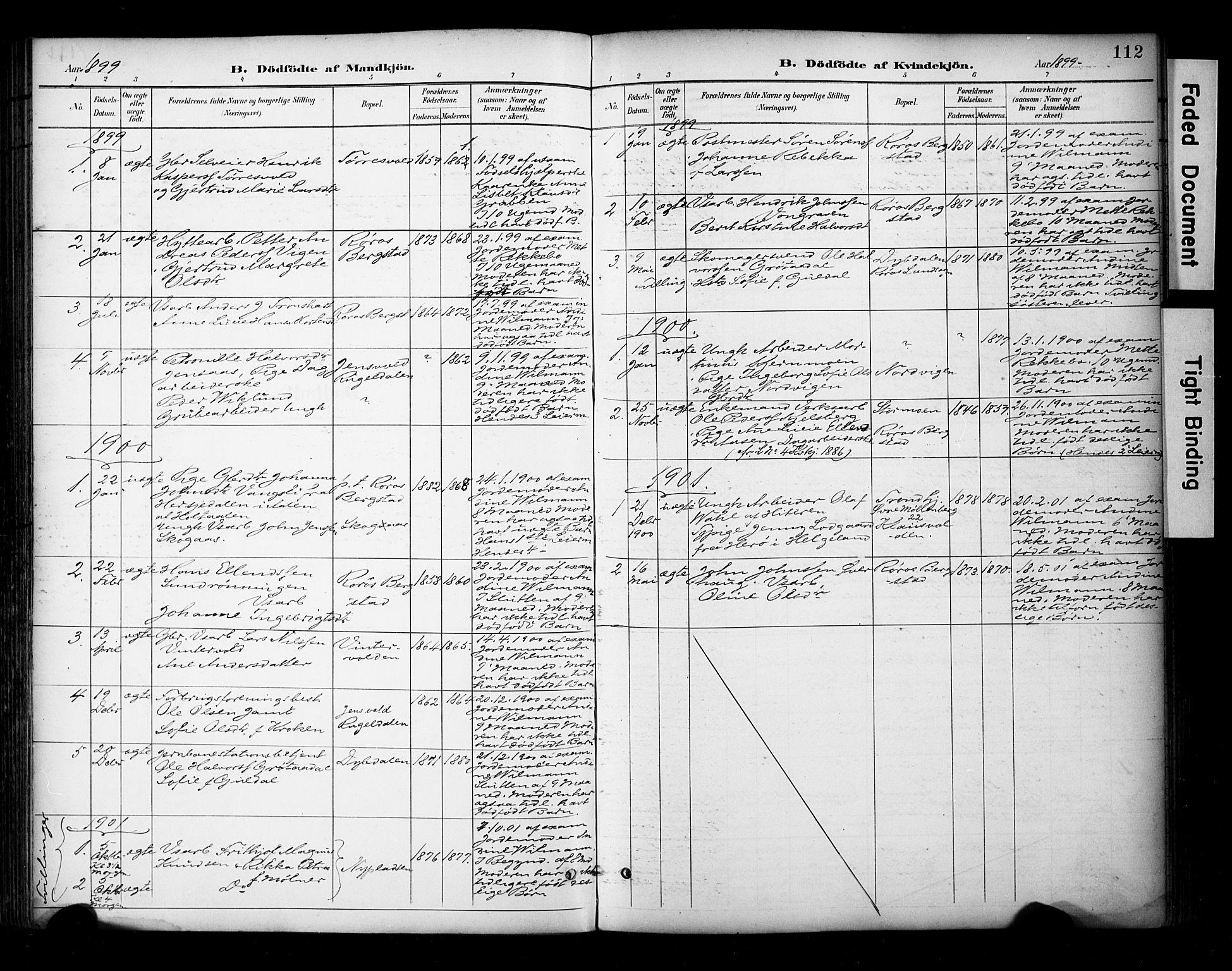 SAT, Ministerialprotokoller, klokkerbøker og fødselsregistre - Sør-Trøndelag, 681/L0936: Ministerialbok nr. 681A14, 1899-1908, s. 112