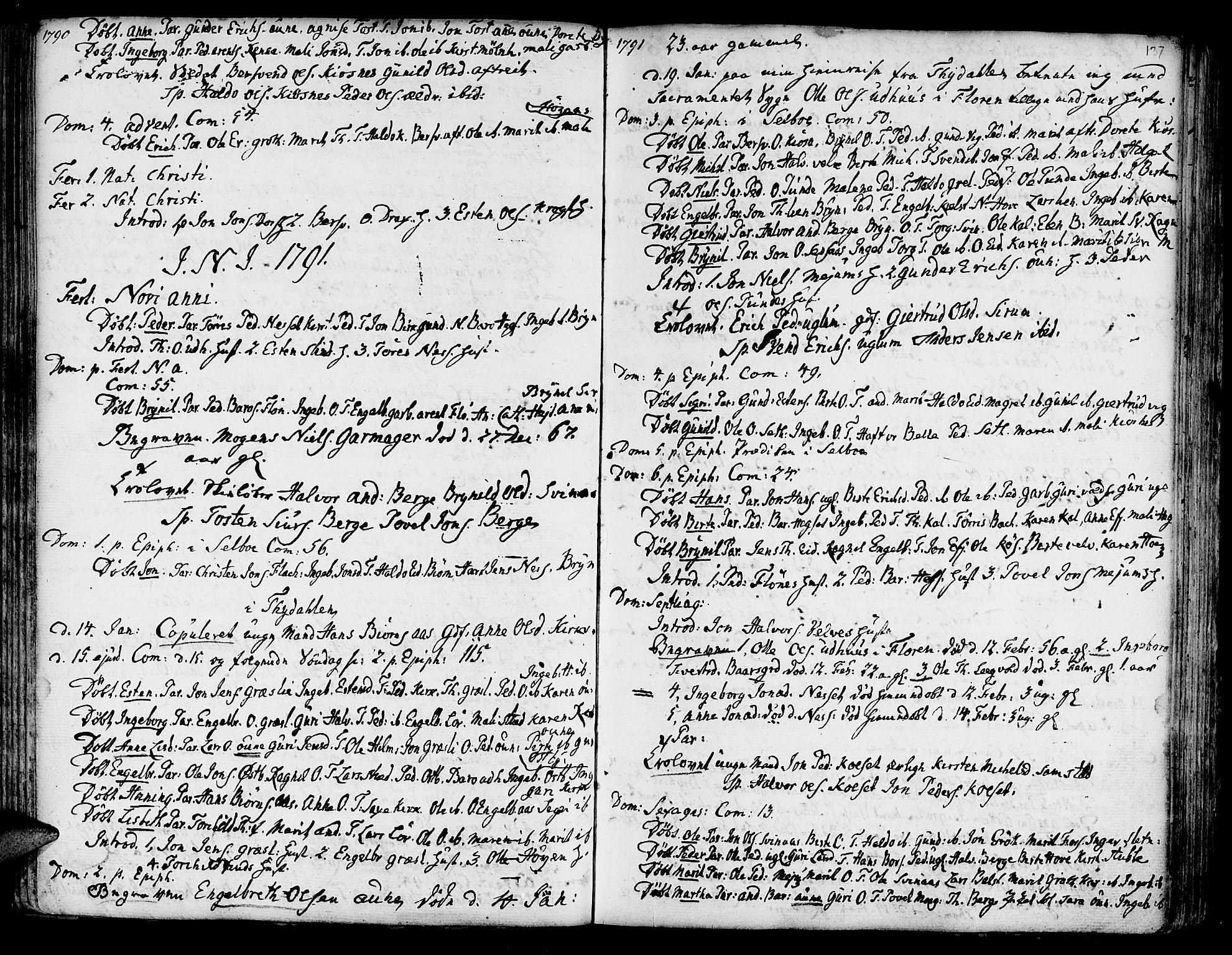 SAT, Ministerialprotokoller, klokkerbøker og fødselsregistre - Sør-Trøndelag, 695/L1138: Ministerialbok nr. 695A02 /1, 1757-1801, s. 137