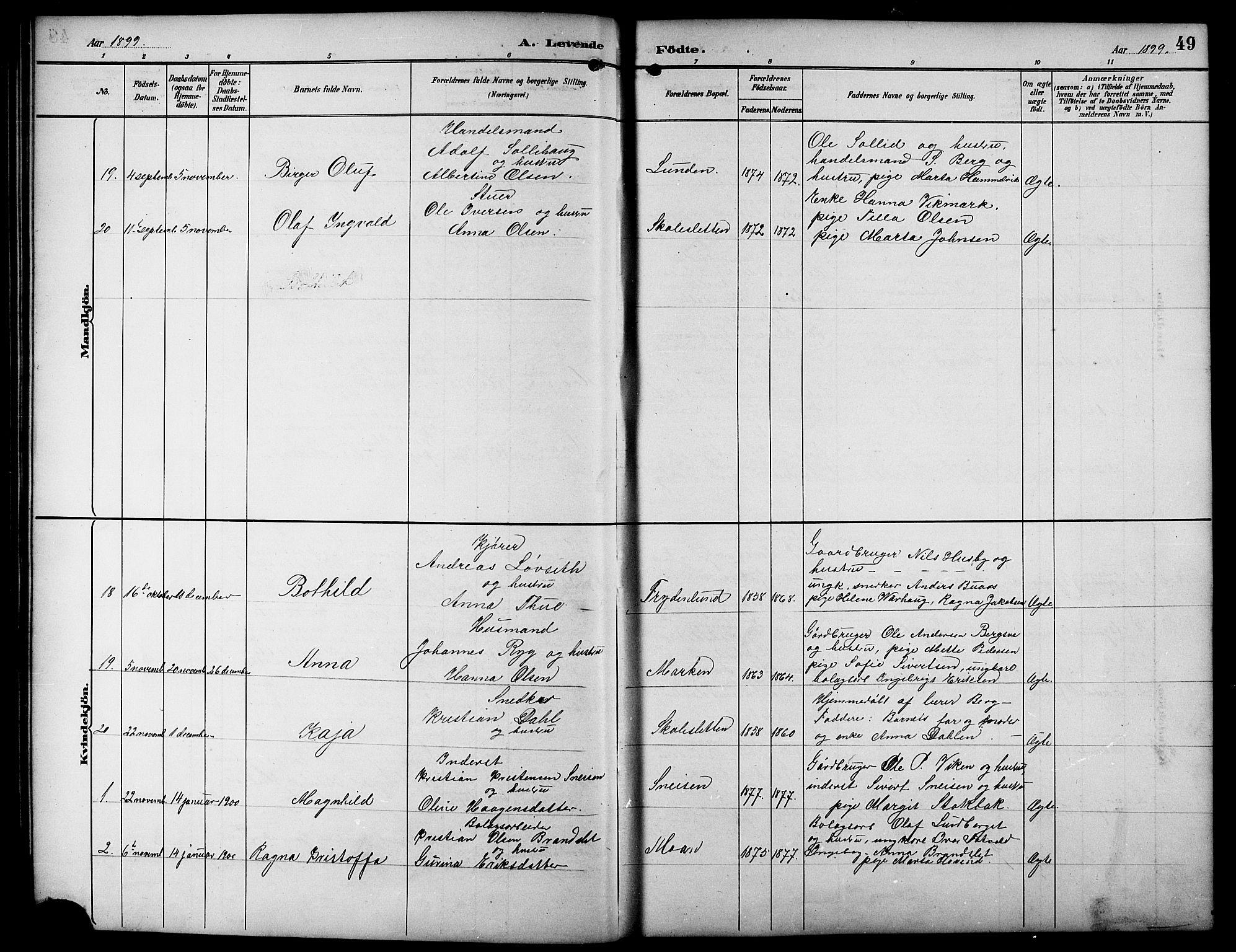 SAT, Ministerialprotokoller, klokkerbøker og fødselsregistre - Sør-Trøndelag, 617/L0431: Klokkerbok nr. 617C01, 1889-1910, s. 49