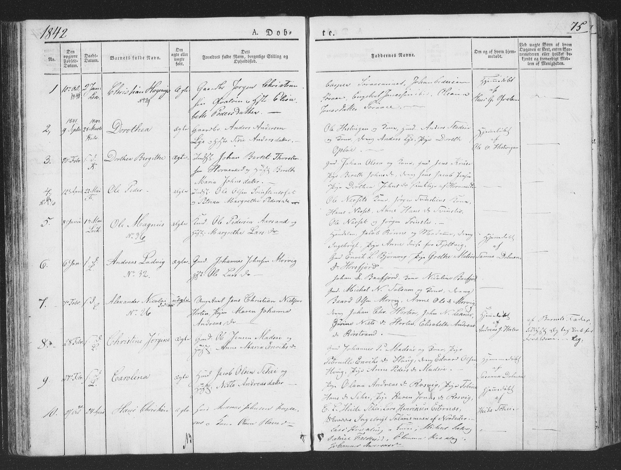 SAT, Ministerialprotokoller, klokkerbøker og fødselsregistre - Nord-Trøndelag, 780/L0639: Ministerialbok nr. 780A04, 1830-1844, s. 75
