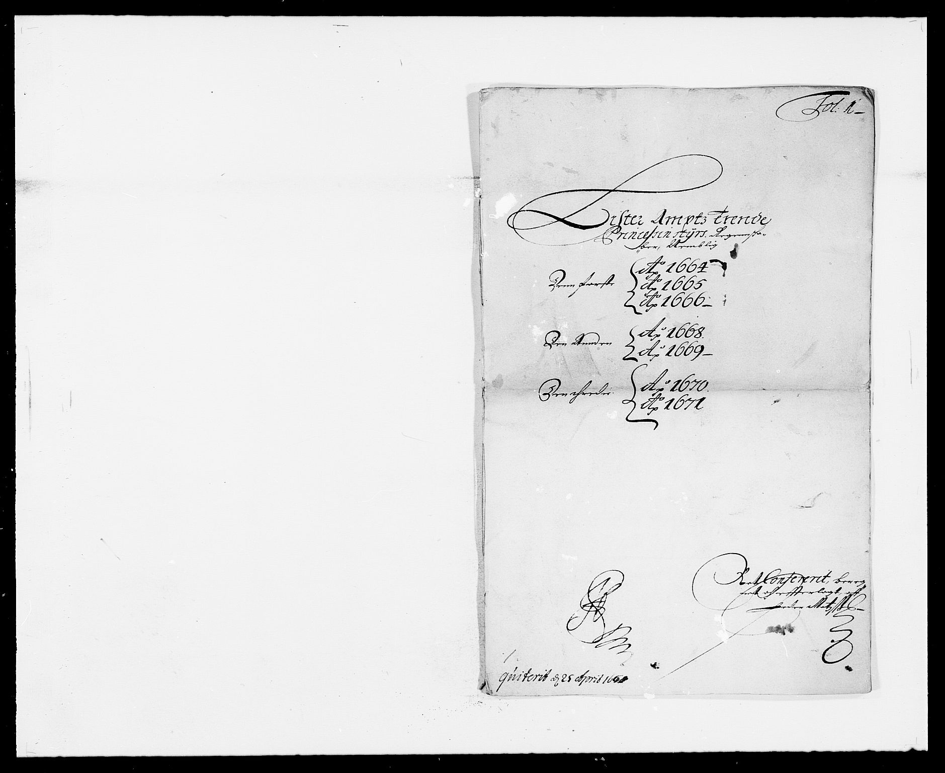 RA, Rentekammeret inntil 1814, Reviderte regnskaper, Fogderegnskap, R41/L2526: Fogderegnskap Lista, 1672, s. 155