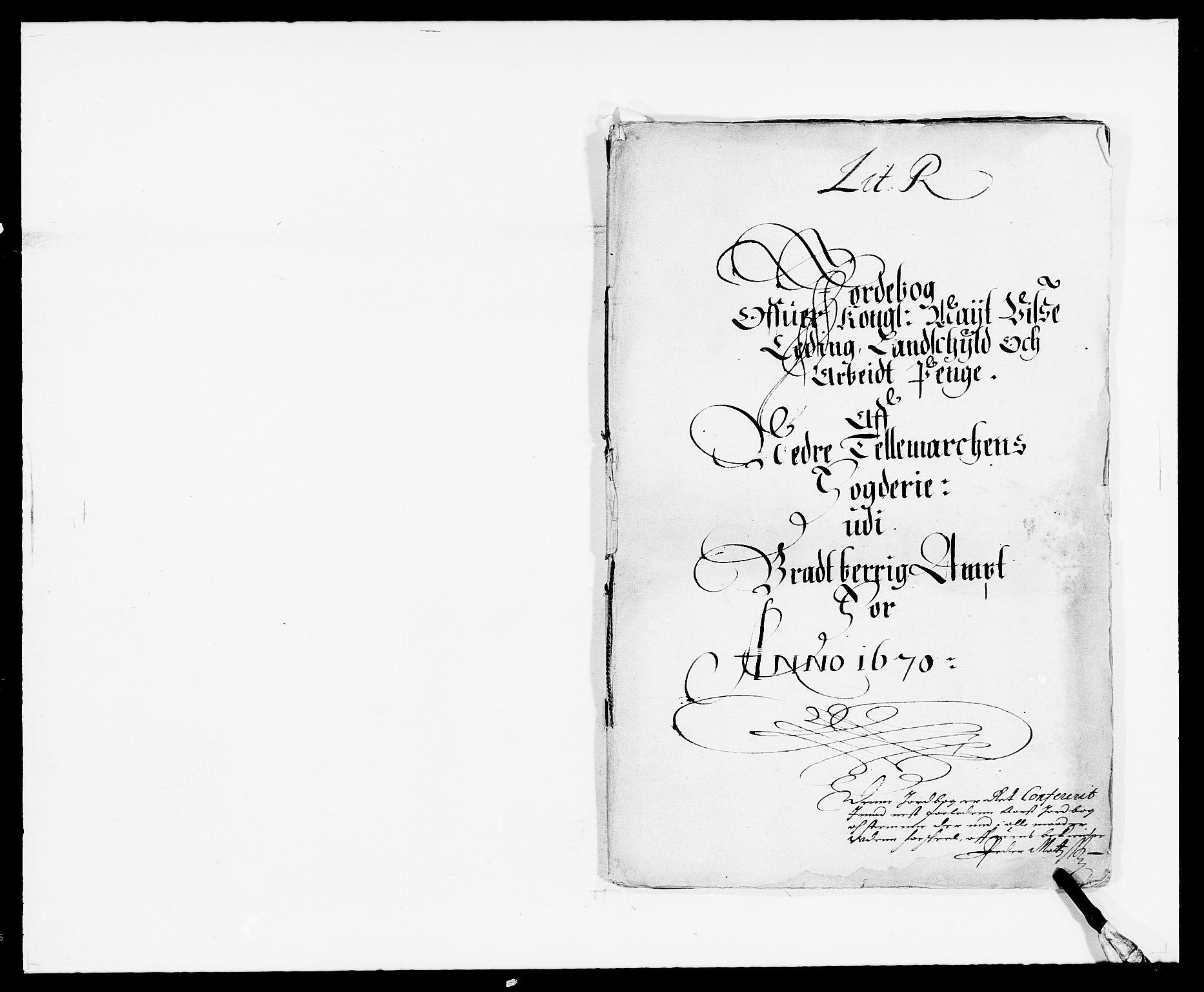 RA, Rentekammeret inntil 1814, Reviderte regnskaper, Fogderegnskap, R35/L2058: Fogderegnskap Øvre og Nedre Telemark, 1668-1670, s. 334