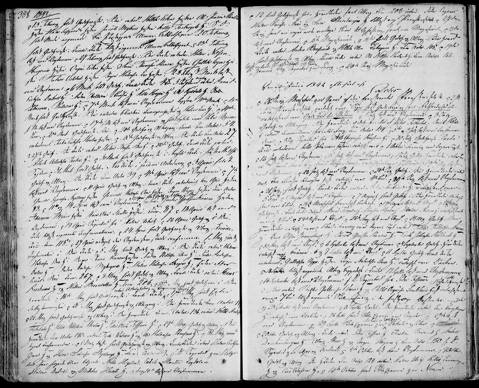 SAKO, Bø kirkebøker, F/Fa/L0007: Ministerialbok nr. 7, 1831-1848, s. 388