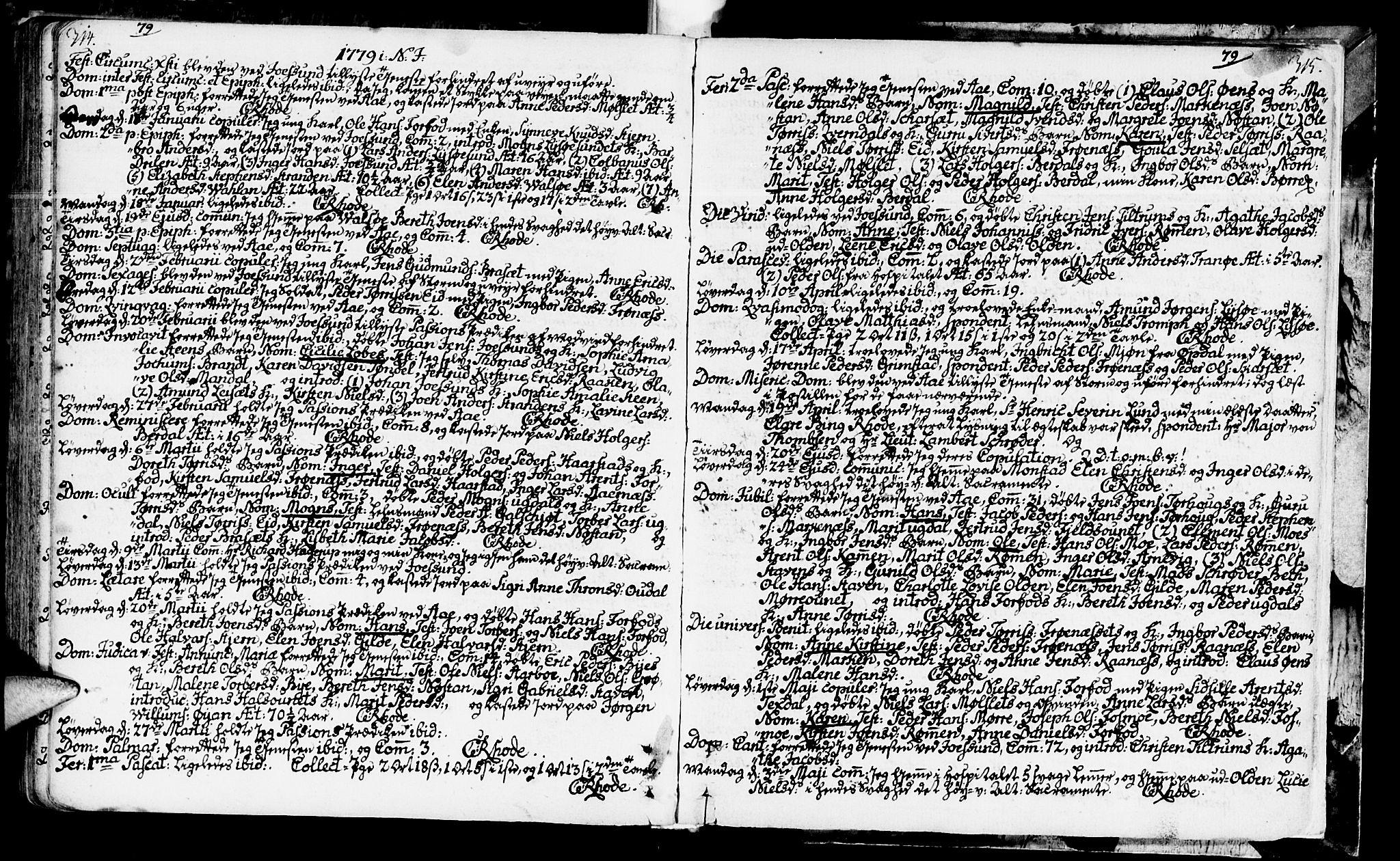 SAT, Ministerialprotokoller, klokkerbøker og fødselsregistre - Sør-Trøndelag, 655/L0672: Ministerialbok nr. 655A01, 1750-1779, s. 314-315
