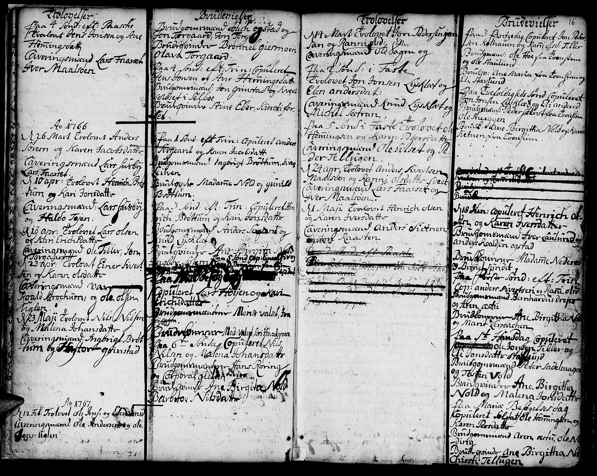 SAT, Ministerialprotokoller, klokkerbøker og fødselsregistre - Sør-Trøndelag, 618/L0437: Ministerialbok nr. 618A02, 1749-1782, s. 16