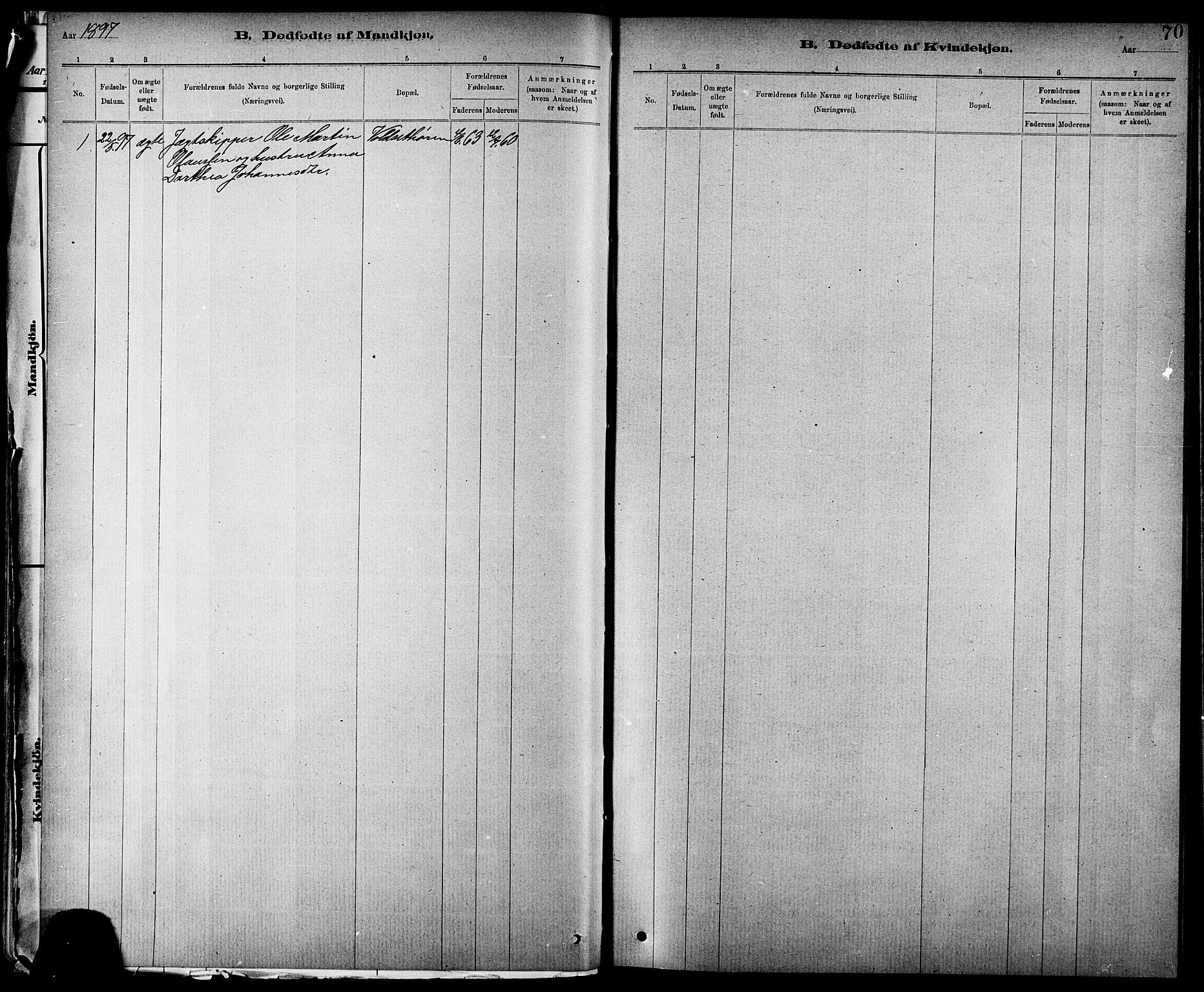 SAT, Ministerialprotokoller, klokkerbøker og fødselsregistre - Nord-Trøndelag, 744/L0423: Klokkerbok nr. 744C02, 1886-1905, s. 70