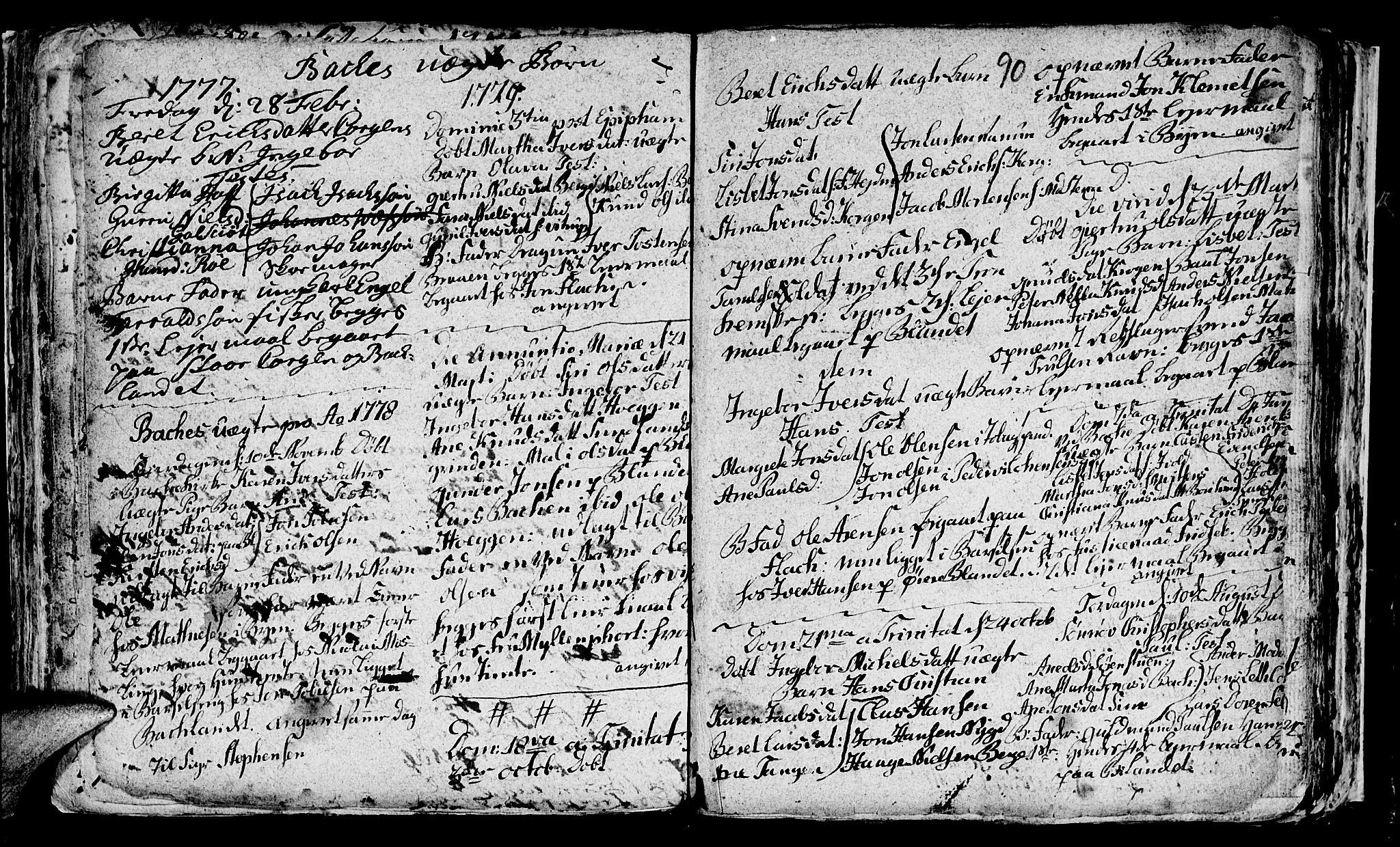 SAT, Ministerialprotokoller, klokkerbøker og fødselsregistre - Sør-Trøndelag, 604/L0218: Klokkerbok nr. 604C01, 1754-1819, s. 90