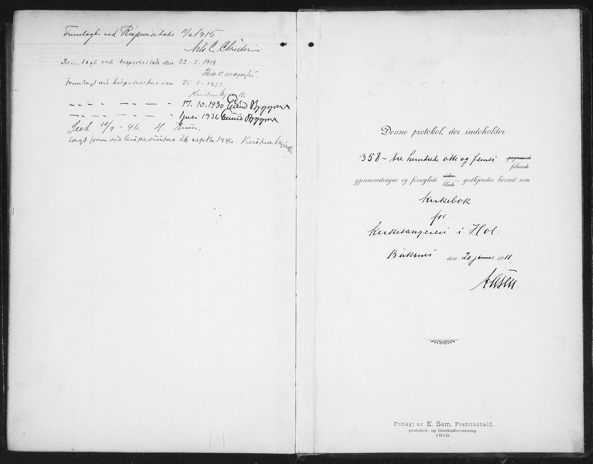 SAT, Ministerialprotokoller, klokkerbøker og fødselsregistre - Nordland, 882/L1183: Klokkerbok nr. 882C01, 1911-1938
