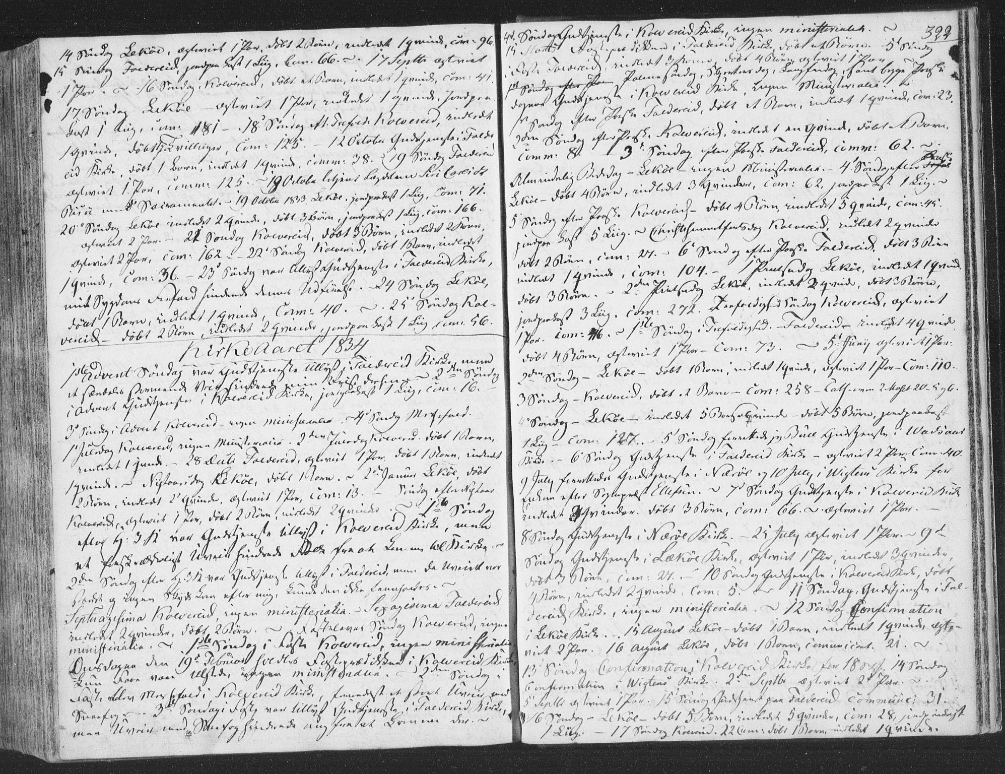 SAT, Ministerialprotokoller, klokkerbøker og fødselsregistre - Nord-Trøndelag, 780/L0639: Ministerialbok nr. 780A04, 1830-1844, s. 322