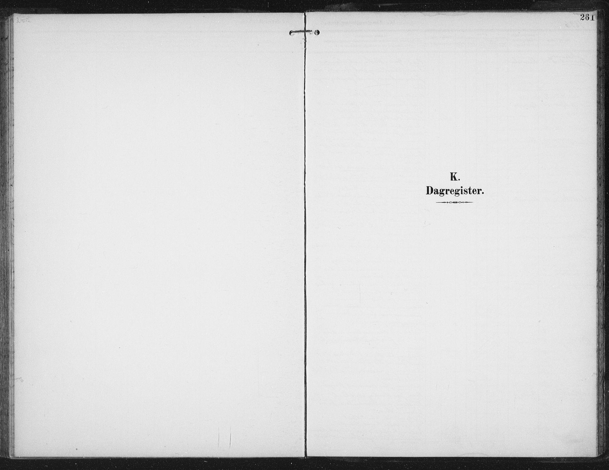 SAT, Ministerialprotokoller, klokkerbøker og fødselsregistre - Sør-Trøndelag, 674/L0872: Ministerialbok nr. 674A04, 1897-1907, s. 261