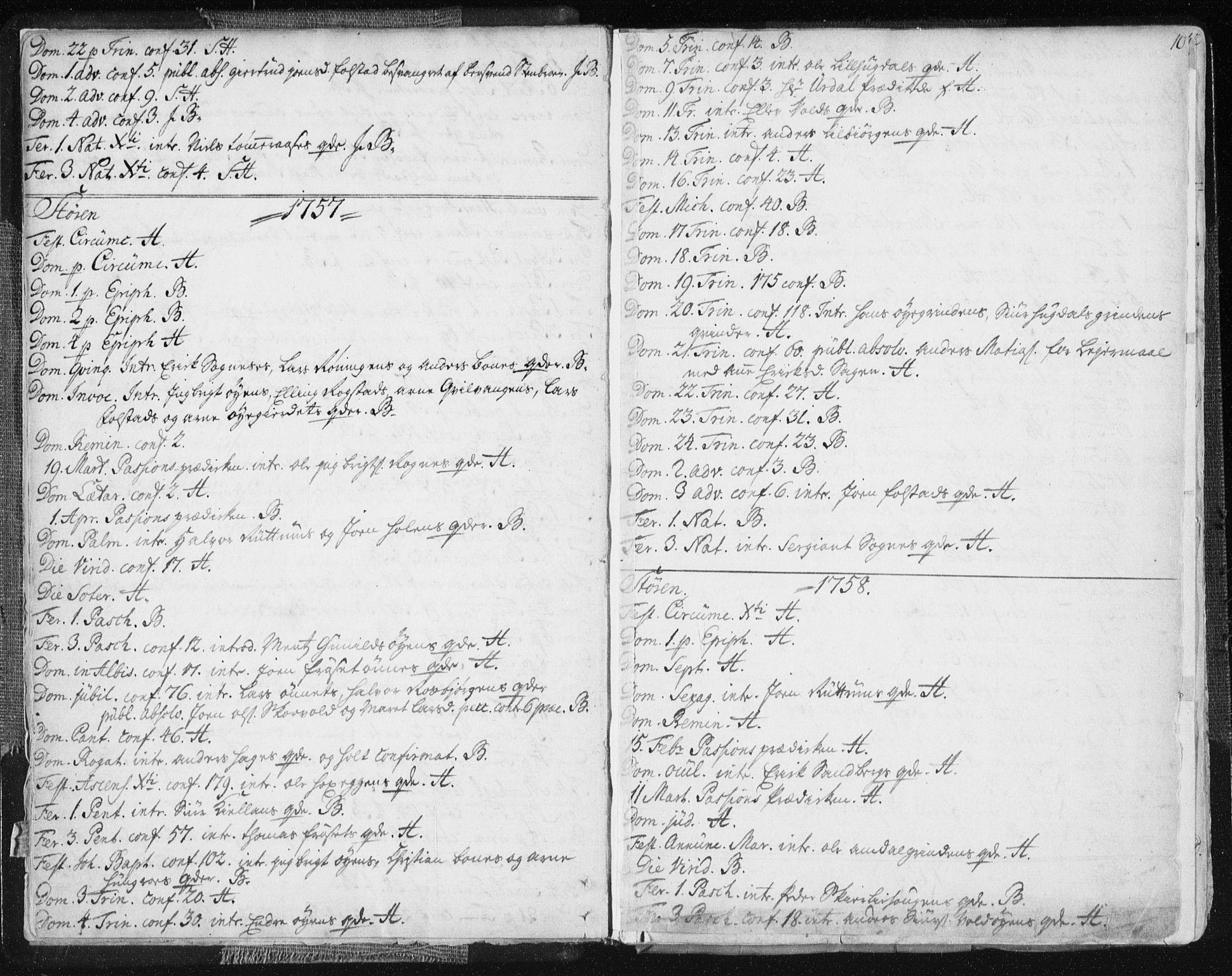 SAT, Ministerialprotokoller, klokkerbøker og fødselsregistre - Sør-Trøndelag, 687/L0991: Ministerialbok nr. 687A02, 1747-1790, s. 10