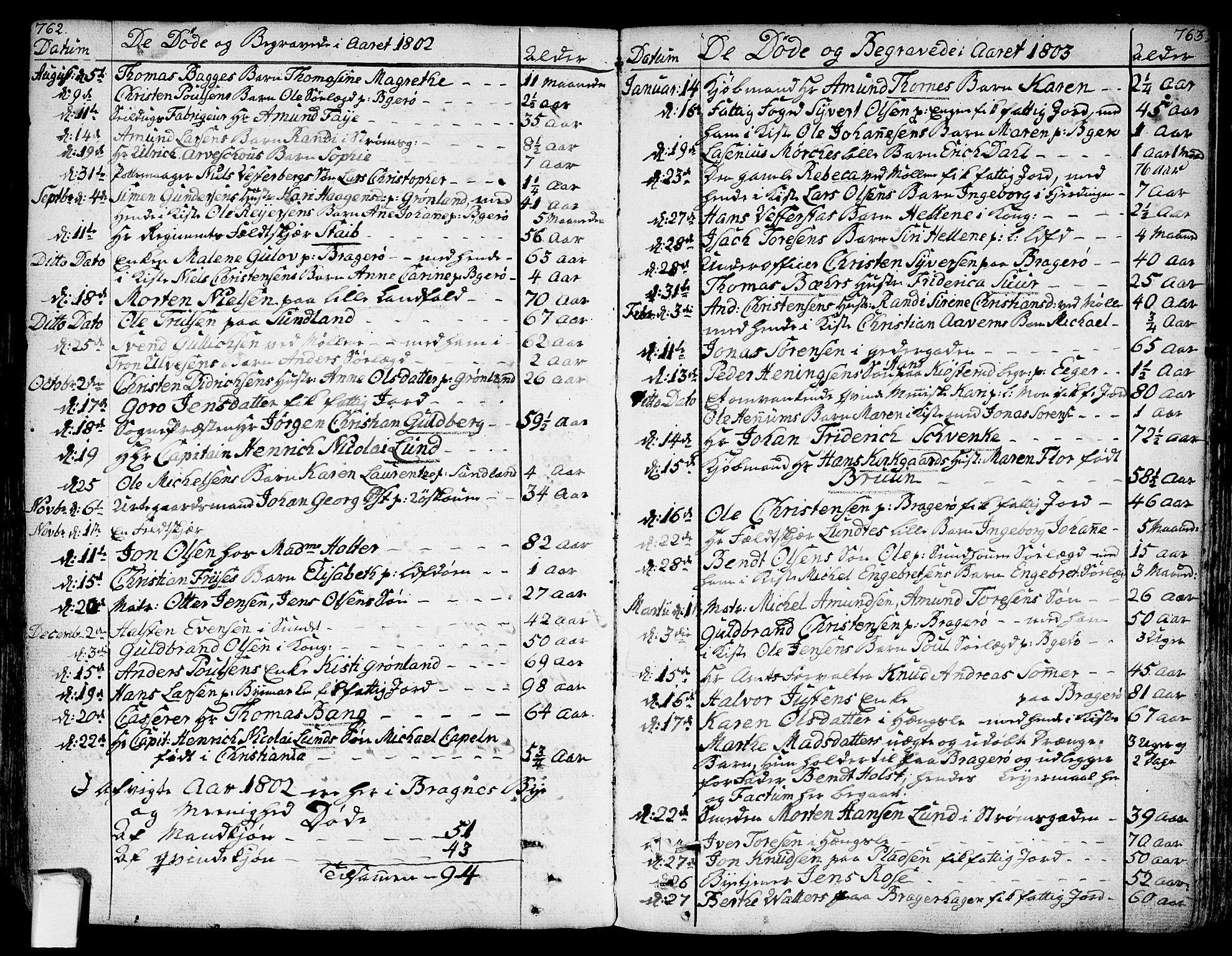 SAKO, Bragernes kirkebøker, F/Fa/L0006a: Ministerialbok nr. I 6, 1782-1814, s. 762-763