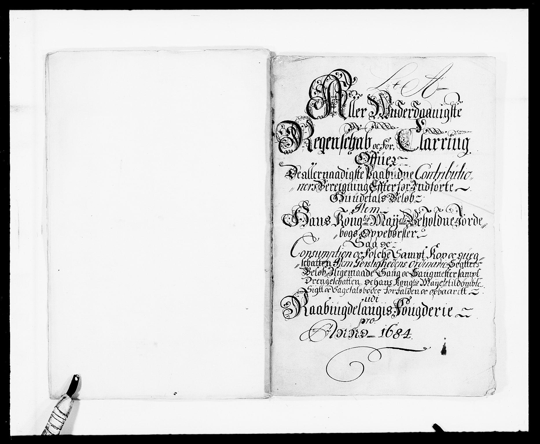 RA, Rentekammeret inntil 1814, Reviderte regnskaper, Fogderegnskap, R40/L2439: Fogderegnskap Råbyggelag, 1684-1685, s. 7