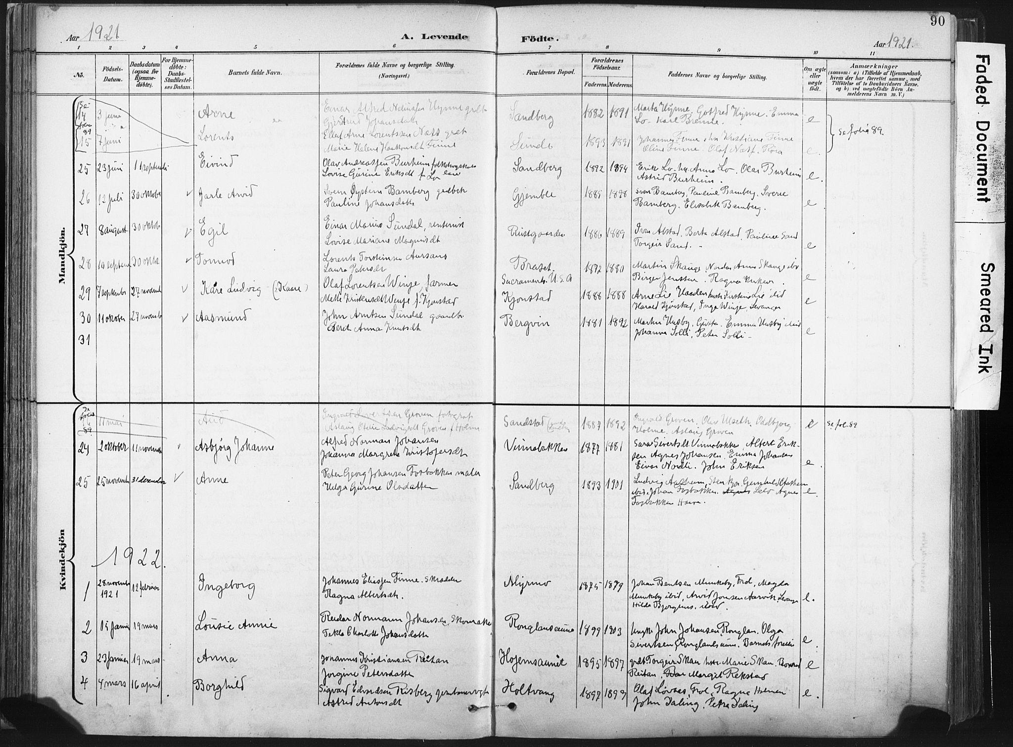 SAT, Ministerialprotokoller, klokkerbøker og fødselsregistre - Nord-Trøndelag, 717/L0162: Ministerialbok nr. 717A12, 1898-1923, s. 90