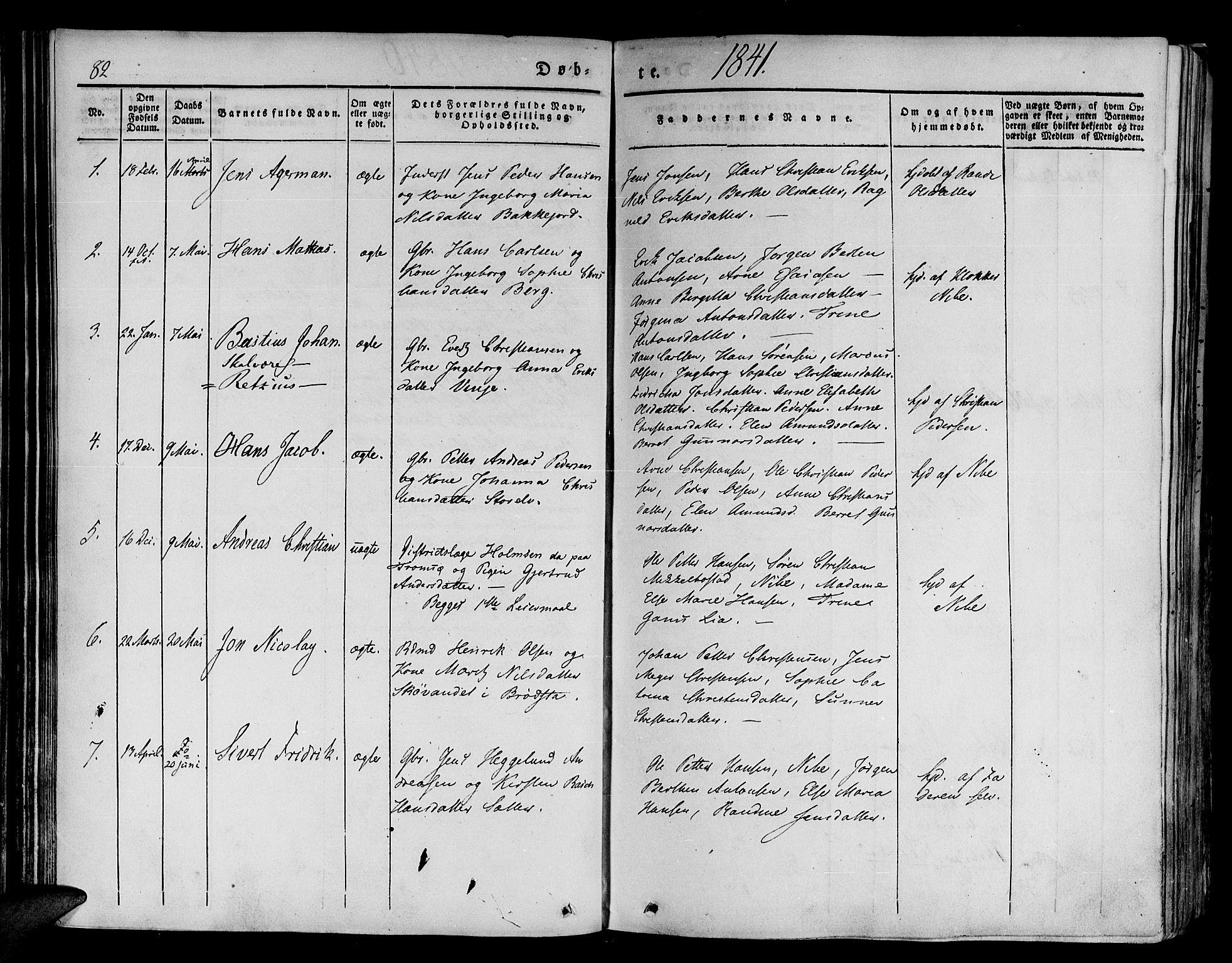 SATØ, Tranøy sokneprestkontor, I/Ia/Iaa/L0005kirke: Ministerialbok nr. 5, 1829-1844, s. 82
