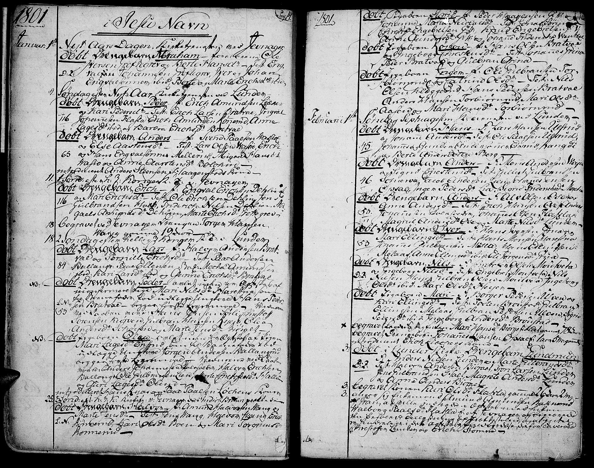 SAH, Jevnaker prestekontor, Ministerialbok nr. 4, 1800-1861, s. 14-15
