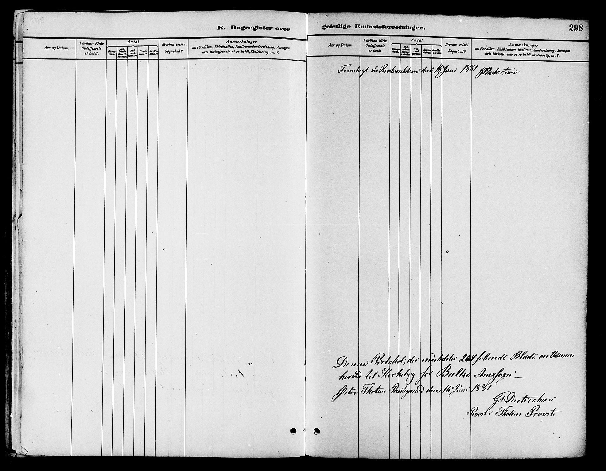 SAH, Østre Toten prestekontor, Ministerialbok nr. 7, 1881-1896, s. 298