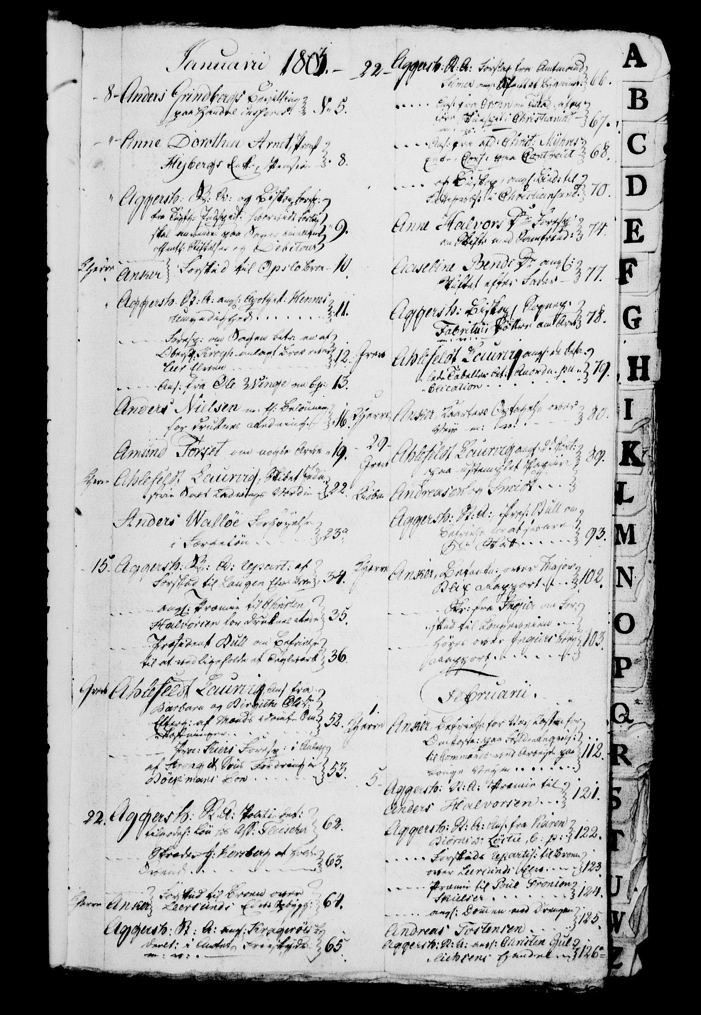 RA, Danske Kanselli 1800-1814, H/Hg/Hga/Hgaa/L0007: Brevbok, 1803