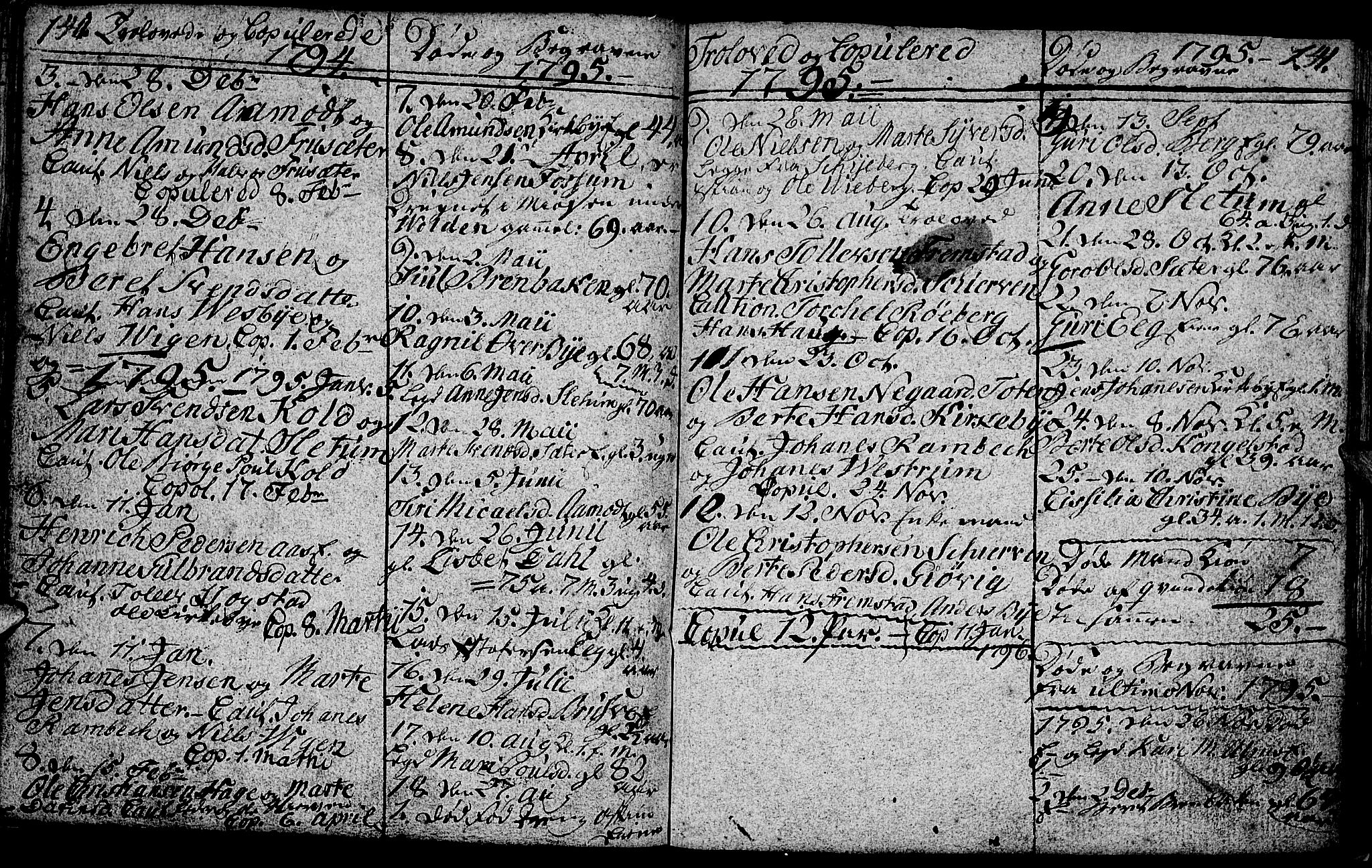 SAH, Vardal prestekontor, H/Ha/Hab/L0002: Klokkerbok nr. 2, 1790-1803, s. 140-141
