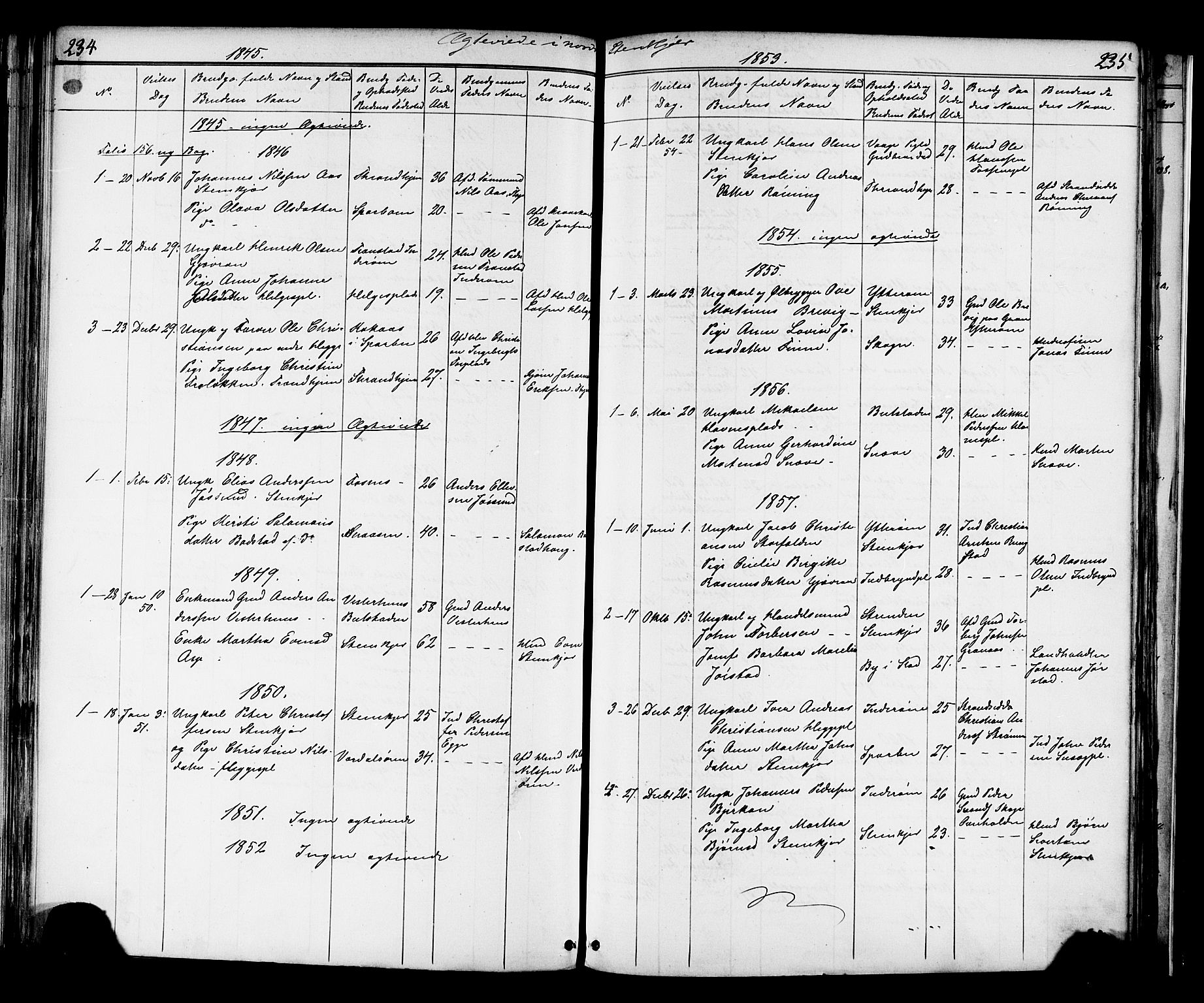 SAT, Ministerialprotokoller, klokkerbøker og fødselsregistre - Nord-Trøndelag, 739/L0367: Ministerialbok nr. 739A01 /2, 1838-1868, s. 234-235