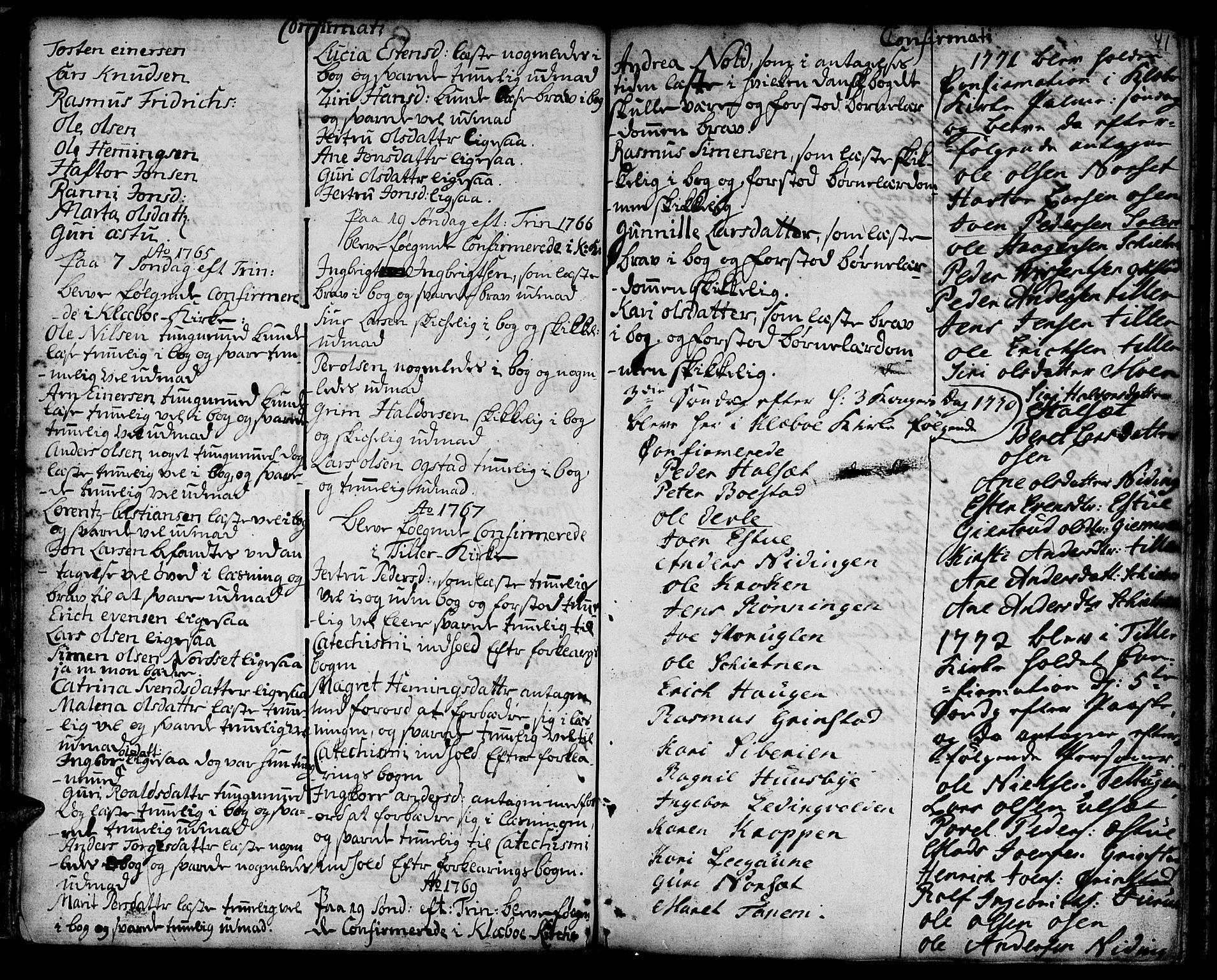 SAT, Ministerialprotokoller, klokkerbøker og fødselsregistre - Sør-Trøndelag, 618/L0437: Ministerialbok nr. 618A02, 1749-1782, s. 41