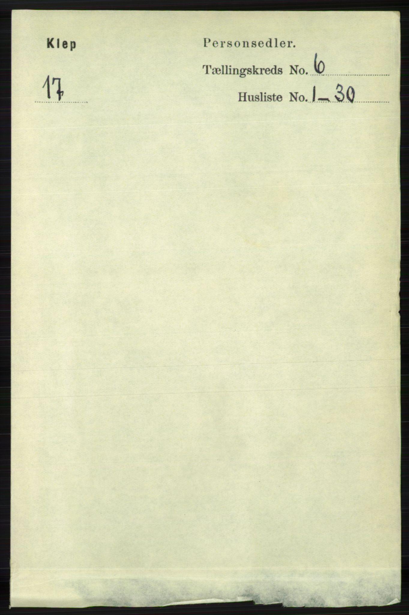 RA, Folketelling 1891 for 1120 Klepp herred, 1891, s. 1715