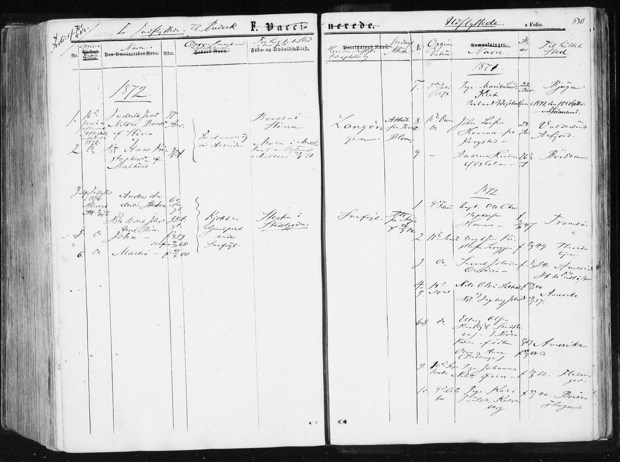SAT, Ministerialprotokoller, klokkerbøker og fødselsregistre - Sør-Trøndelag, 612/L0377: Ministerialbok nr. 612A09, 1859-1877, s. 530