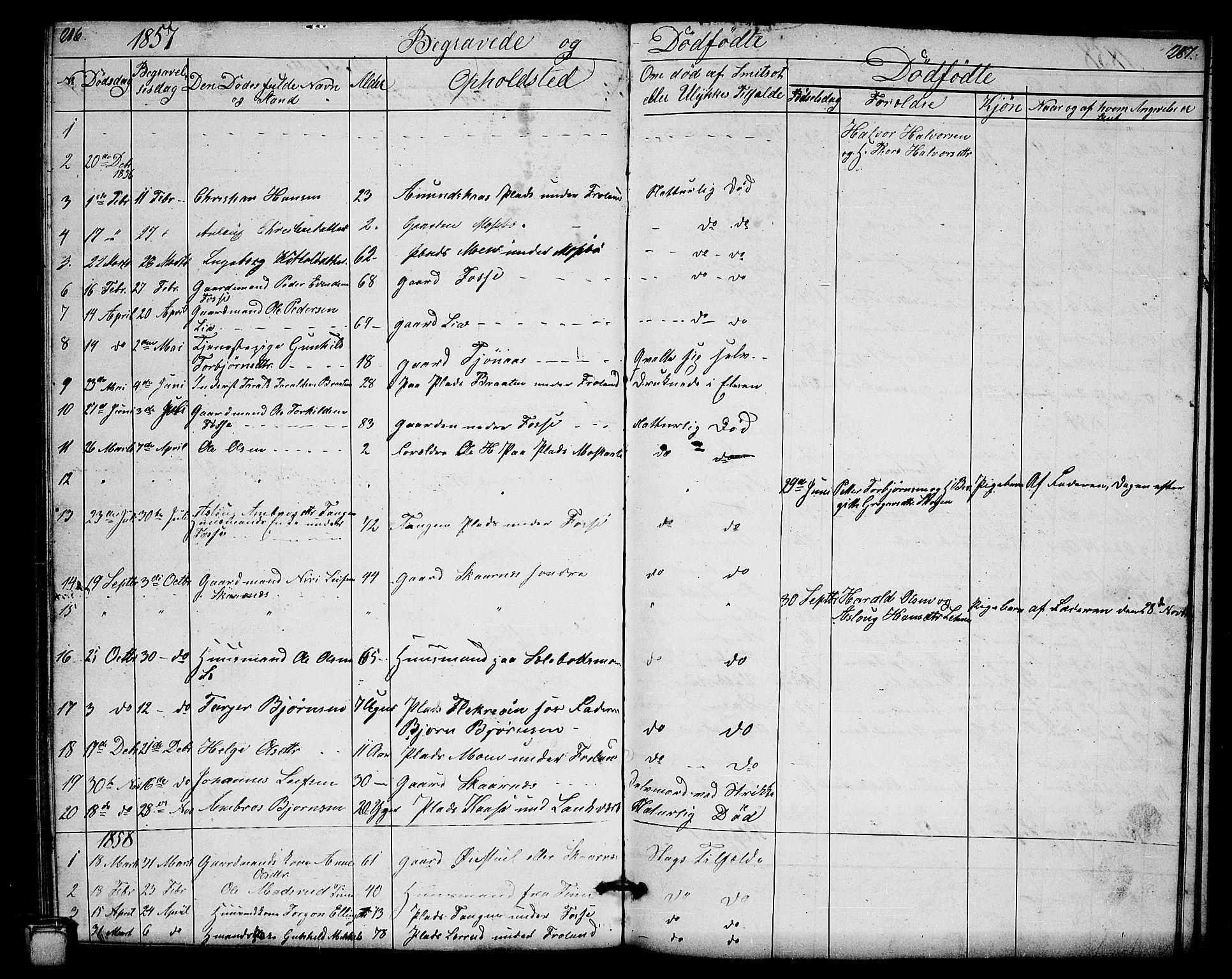 SAKO, Hjartdal kirkebøker, G/Gb/L0002: Klokkerbok nr. II 2, 1854-1884, s. 286-287