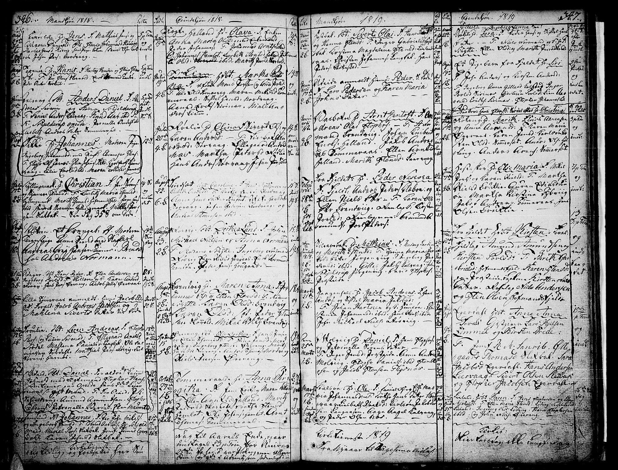 SAT, Ministerialprotokoller, klokkerbøker og fødselsregistre - Nordland, 859/L0841: Ministerialbok nr. 859A01, 1766-1821, s. 346-347