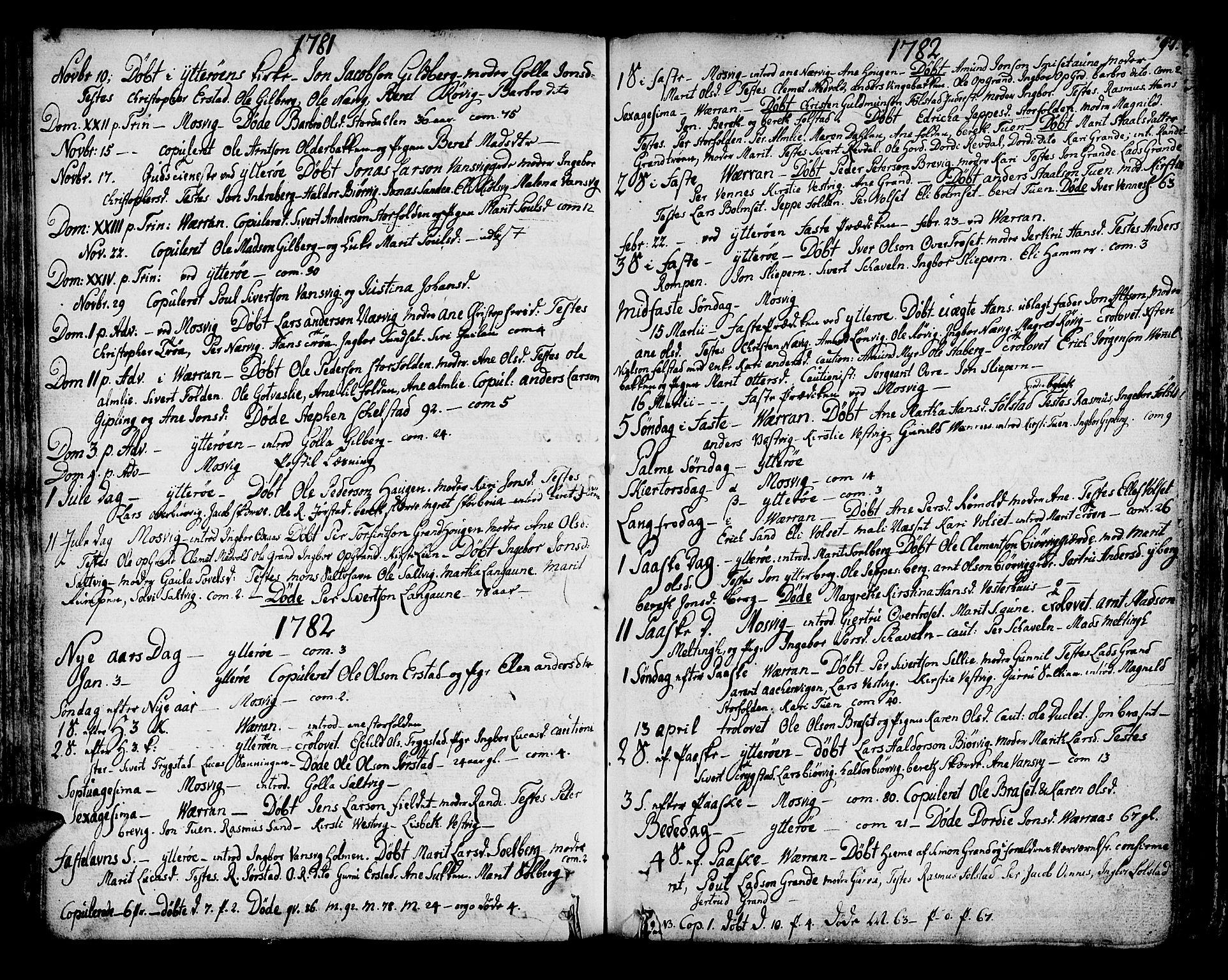 SAT, Ministerialprotokoller, klokkerbøker og fødselsregistre - Nord-Trøndelag, 722/L0216: Ministerialbok nr. 722A03, 1756-1816, s. 97