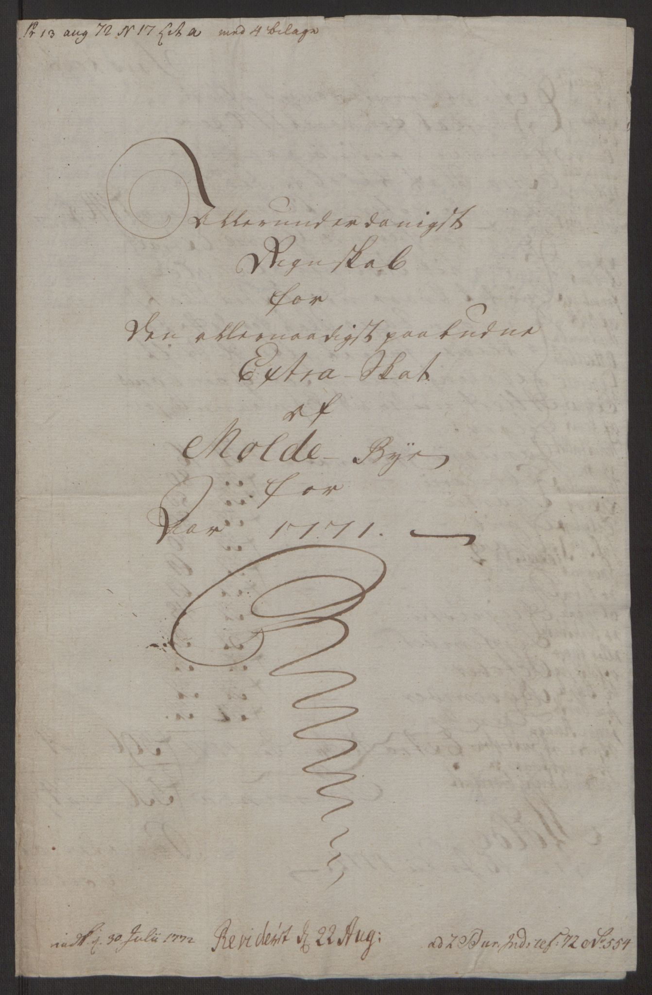 RA, Rentekammeret inntil 1814, Reviderte regnskaper, Byregnskaper, R/Rq/L0487: [Q1] Kontribusjonsregnskap, 1762-1772, s. 197