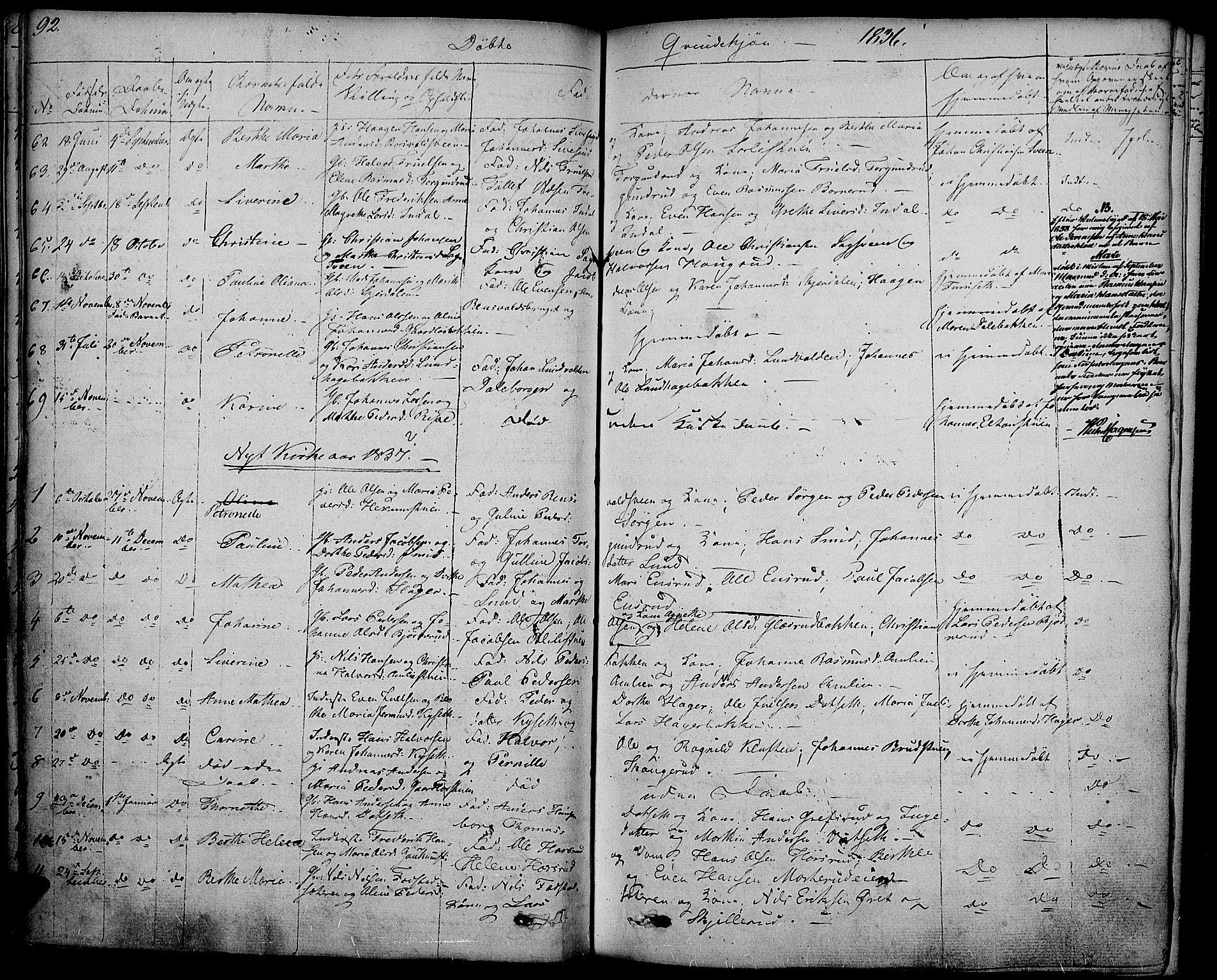 SAH, Vestre Toten prestekontor, H/Ha/Haa/L0002: Ministerialbok nr. 2, 1825-1837, s. 92