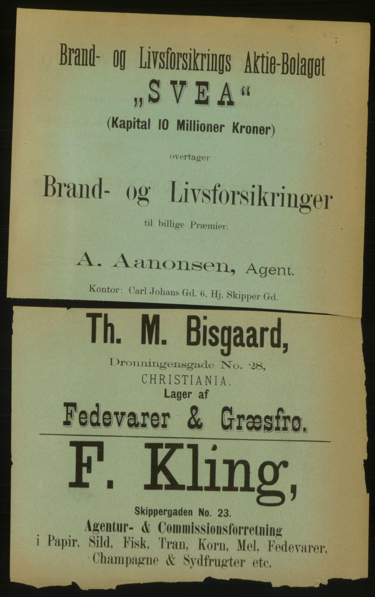 PUBL, Kristiania/Oslo adressebok, 1883, s. 7