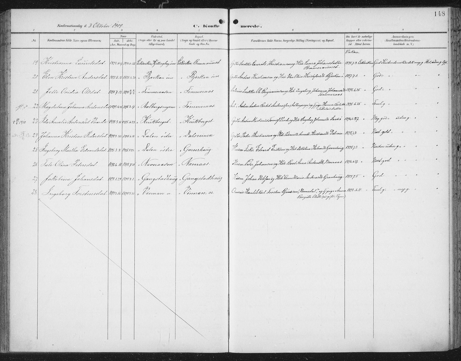 SAT, Ministerialprotokoller, klokkerbøker og fødselsregistre - Nord-Trøndelag, 701/L0011: Ministerialbok nr. 701A11, 1899-1915, s. 148