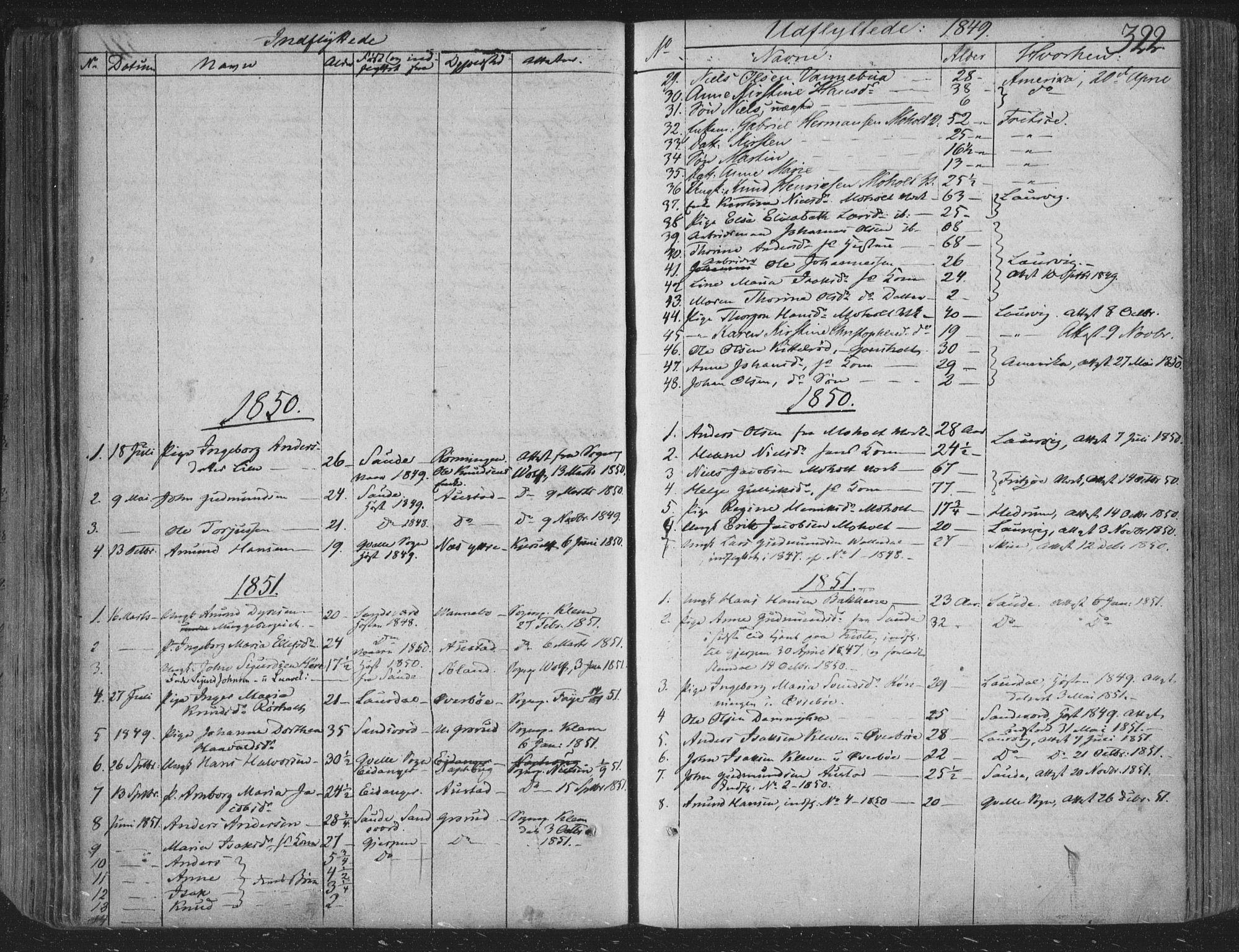 SAKO, Siljan kirkebøker, F/Fa/L0001: Ministerialbok nr. 1, 1831-1870, s. 322