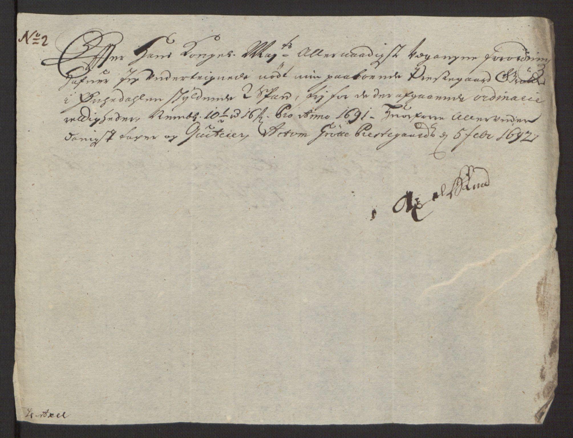 RA, Rentekammeret inntil 1814, Reviderte regnskaper, Fogderegnskap, R58/L3937: Fogderegnskap Orkdal, 1691-1692, s. 142