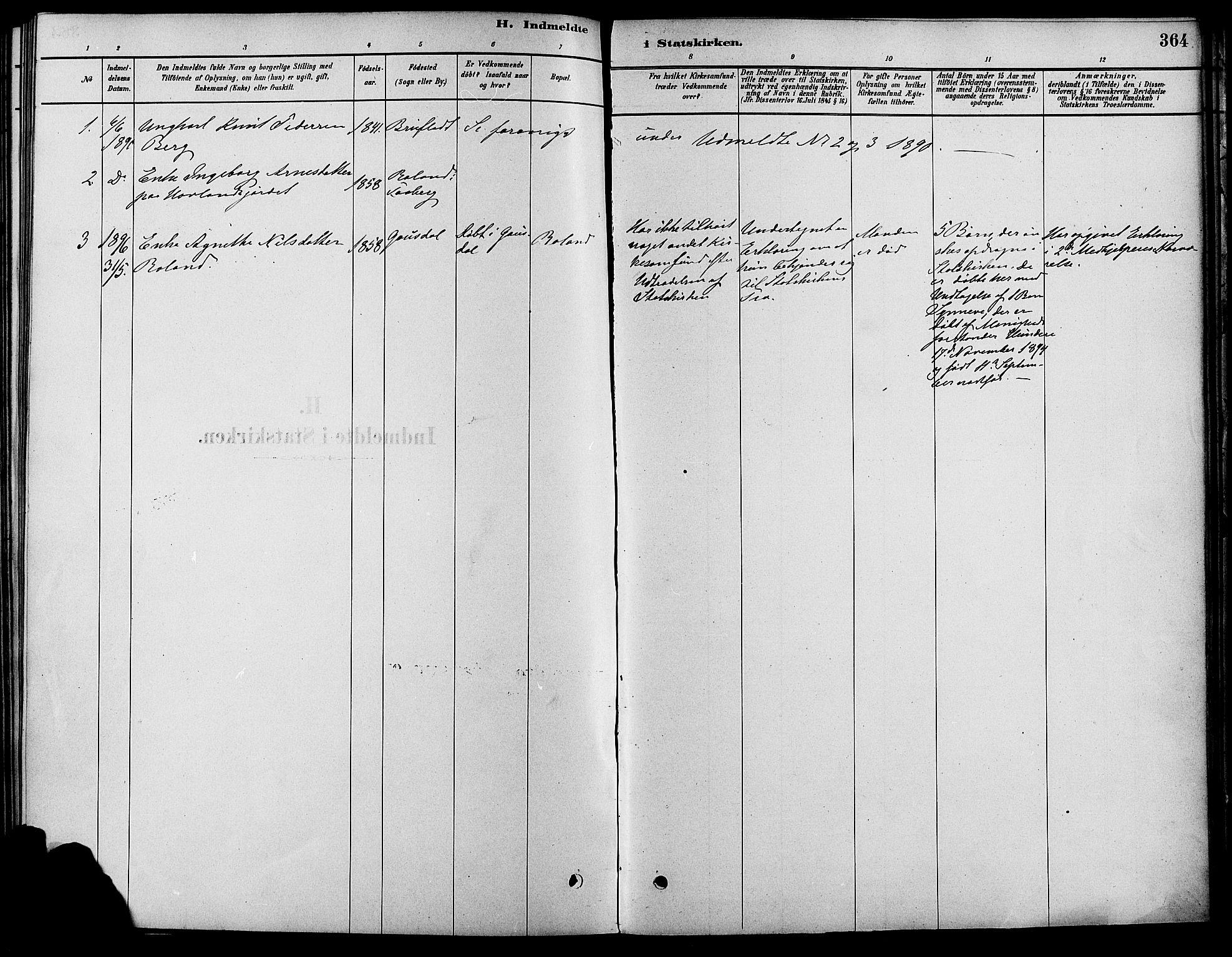 SAH, Fåberg prestekontor, Ministerialbok nr. 8, 1879-1898, s. 364