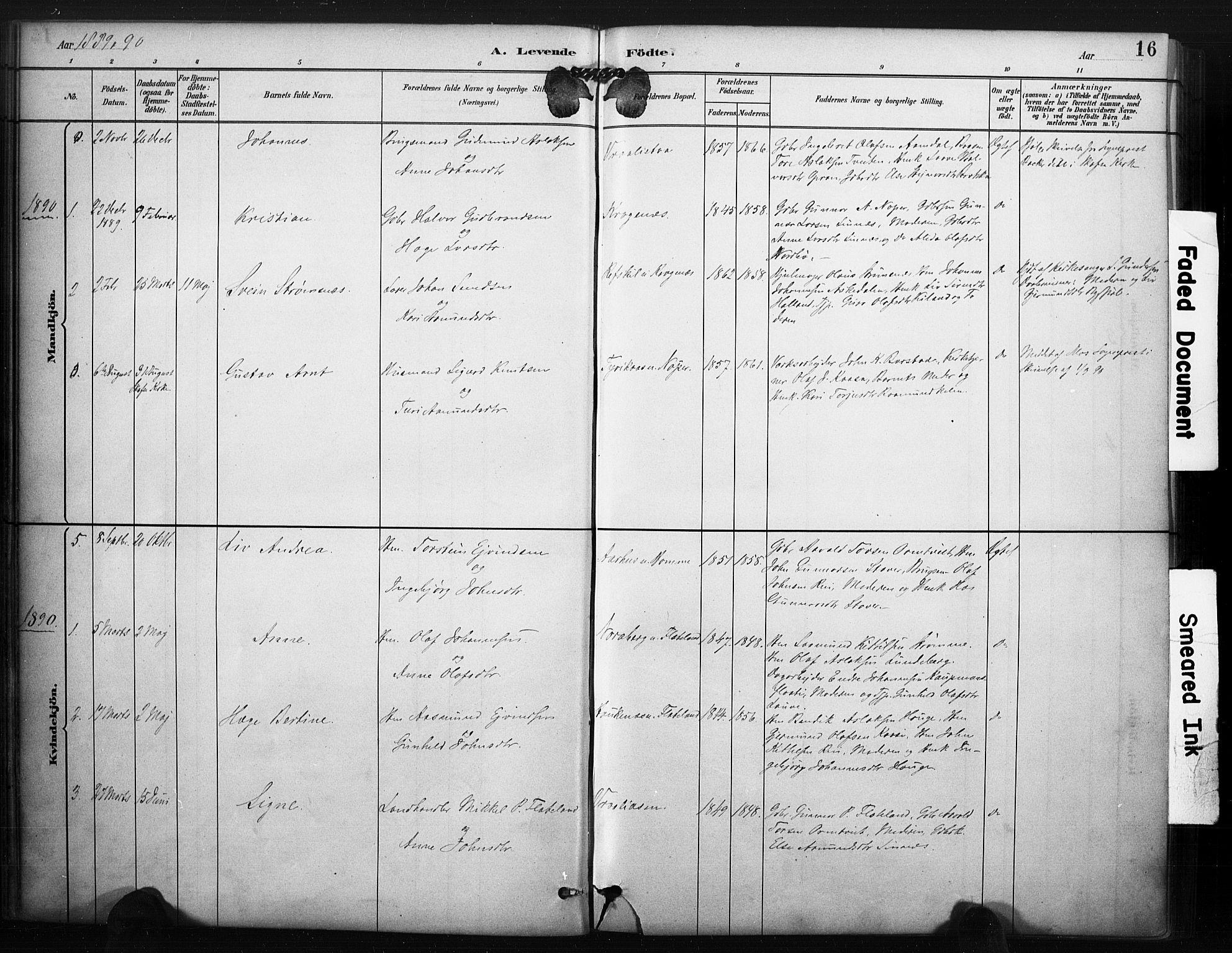 SAKO, Kviteseid kirkebøker, F/Fc/L0002: Ministerialbok nr. III 2, 1882-1908, s. 16