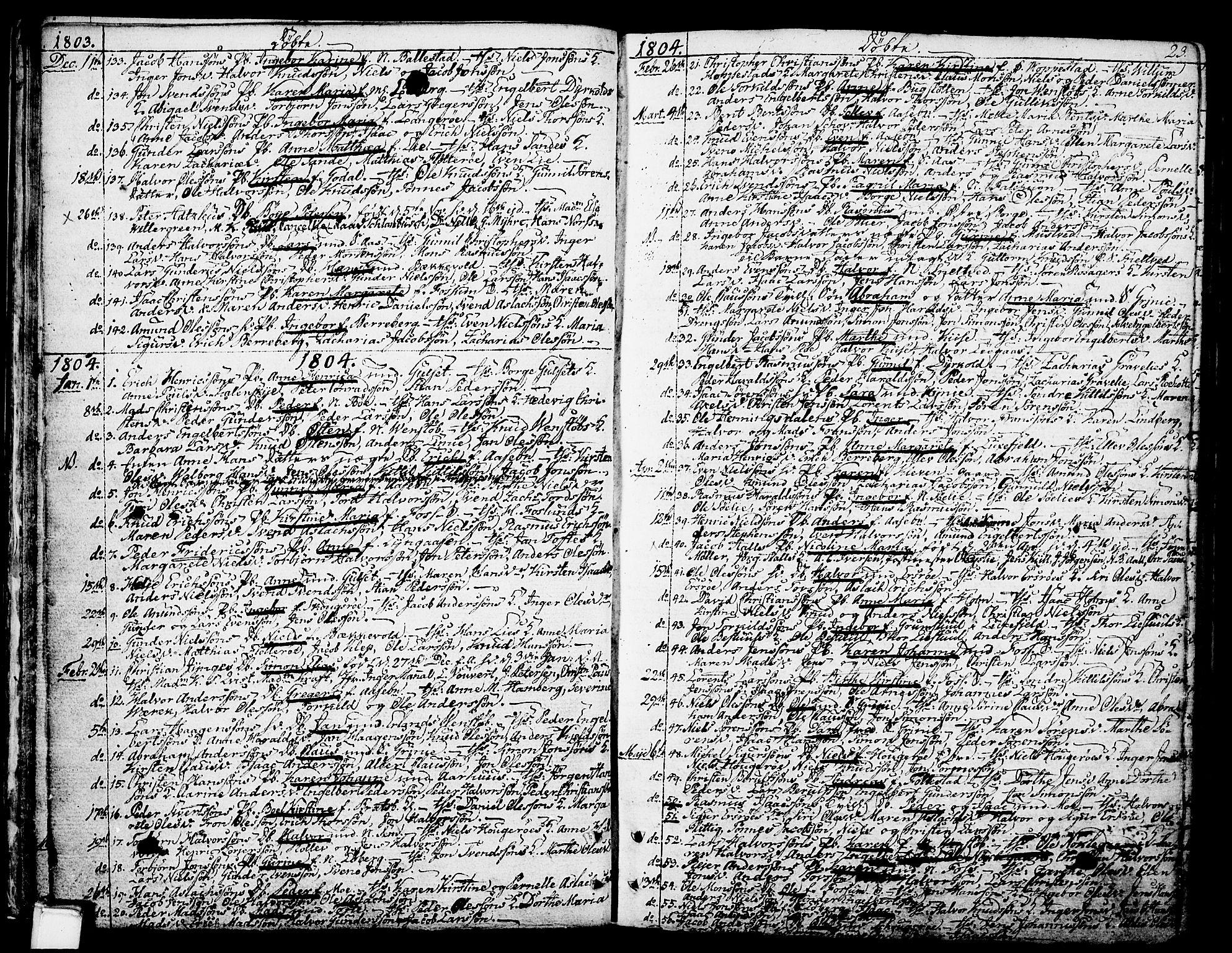 SAKO, Gjerpen kirkebøker, F/Fa/L0003: Ministerialbok nr. 3, 1796-1814, s. 23