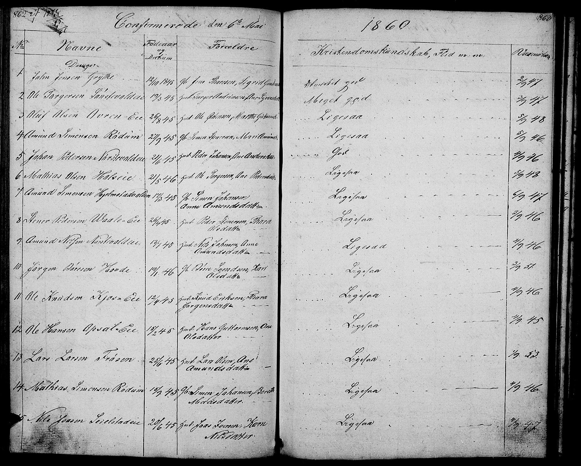 SAH, Gausdal prestekontor, Klokkerbok nr. 4, 1835-1870, s. 862-863