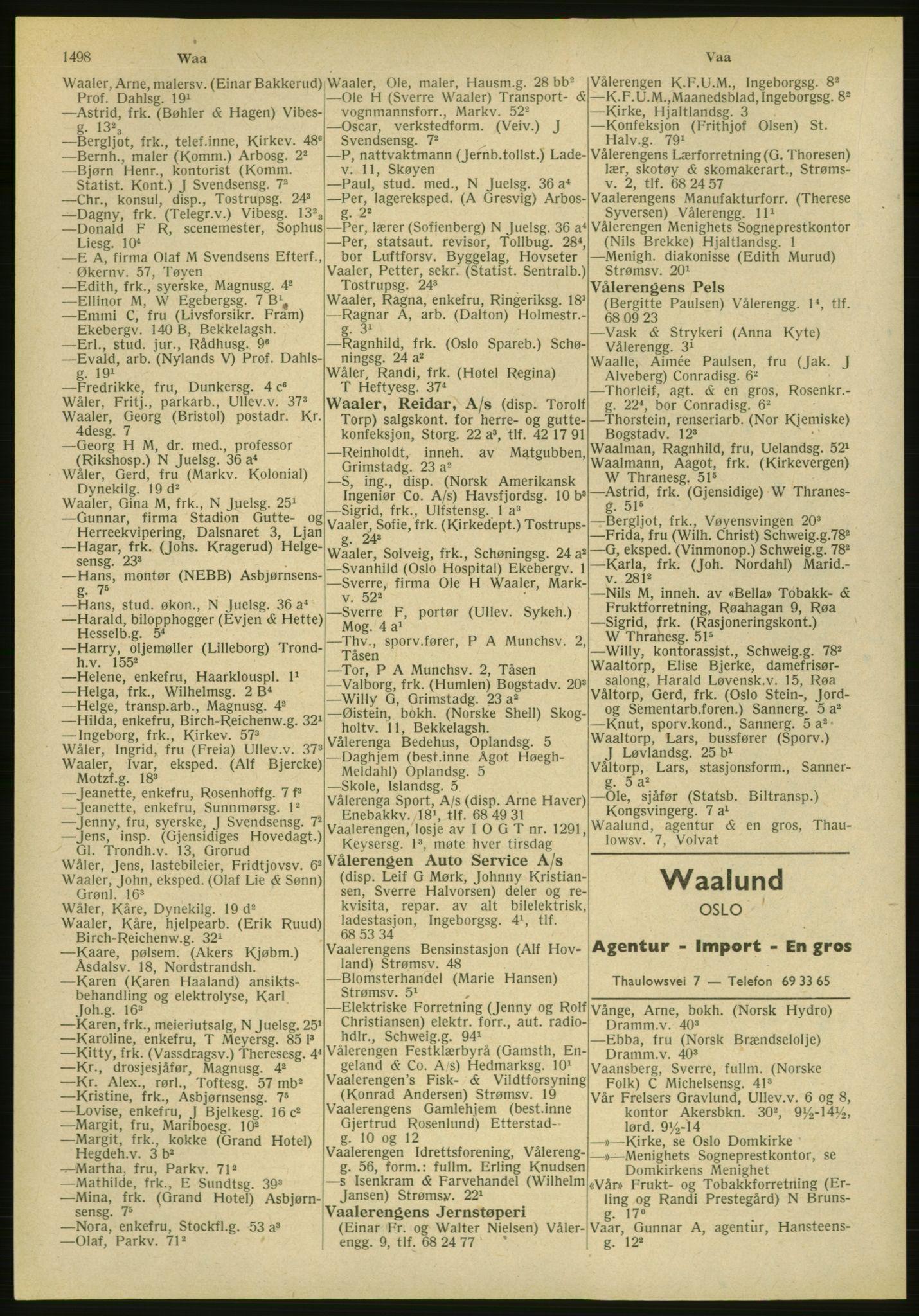 PUBL, Kristiania/Oslo adressebok, 1951, s. 1498